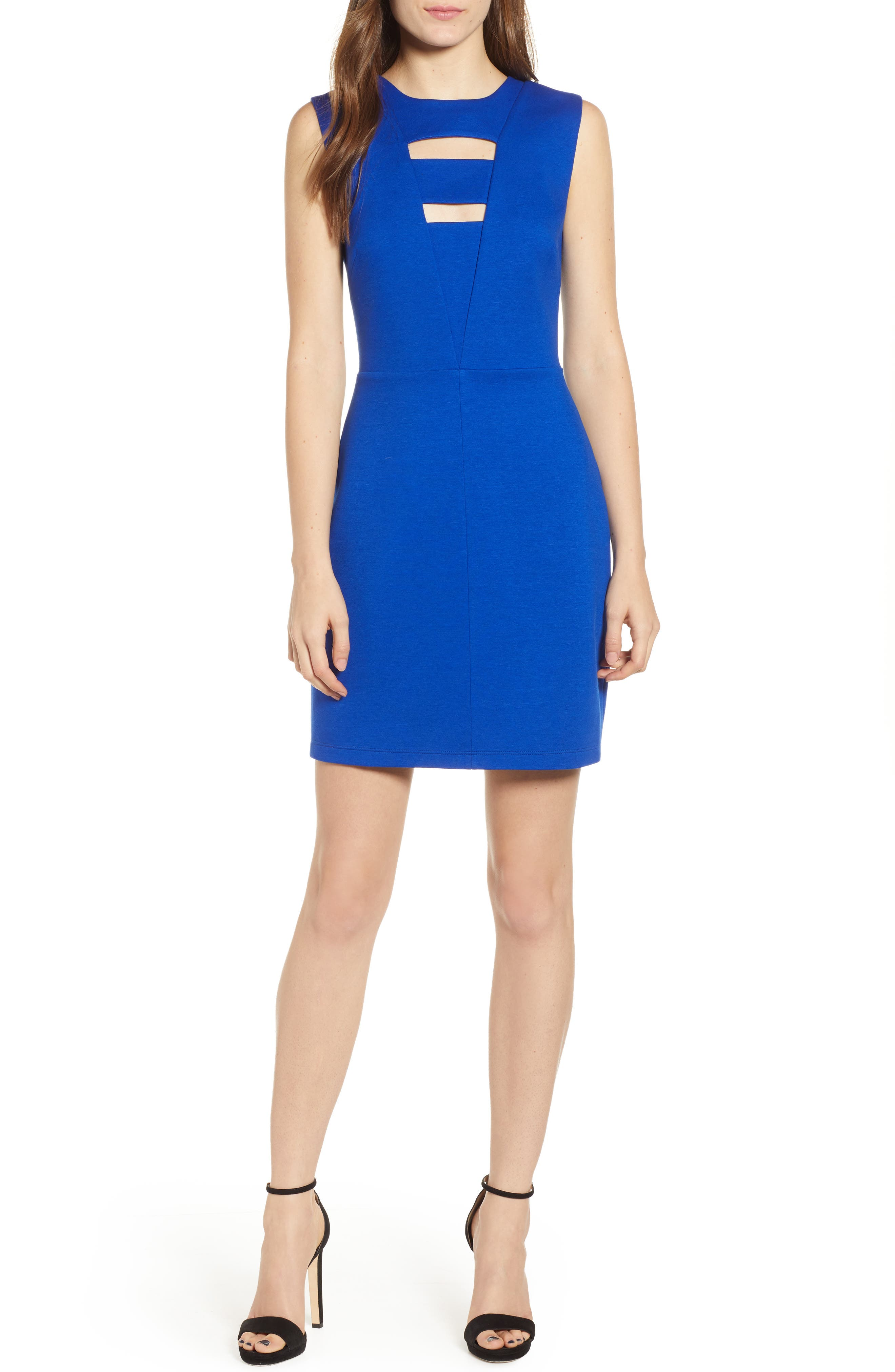 BAILEY44 No Love Lost Cutout Ponte Dress in Blue