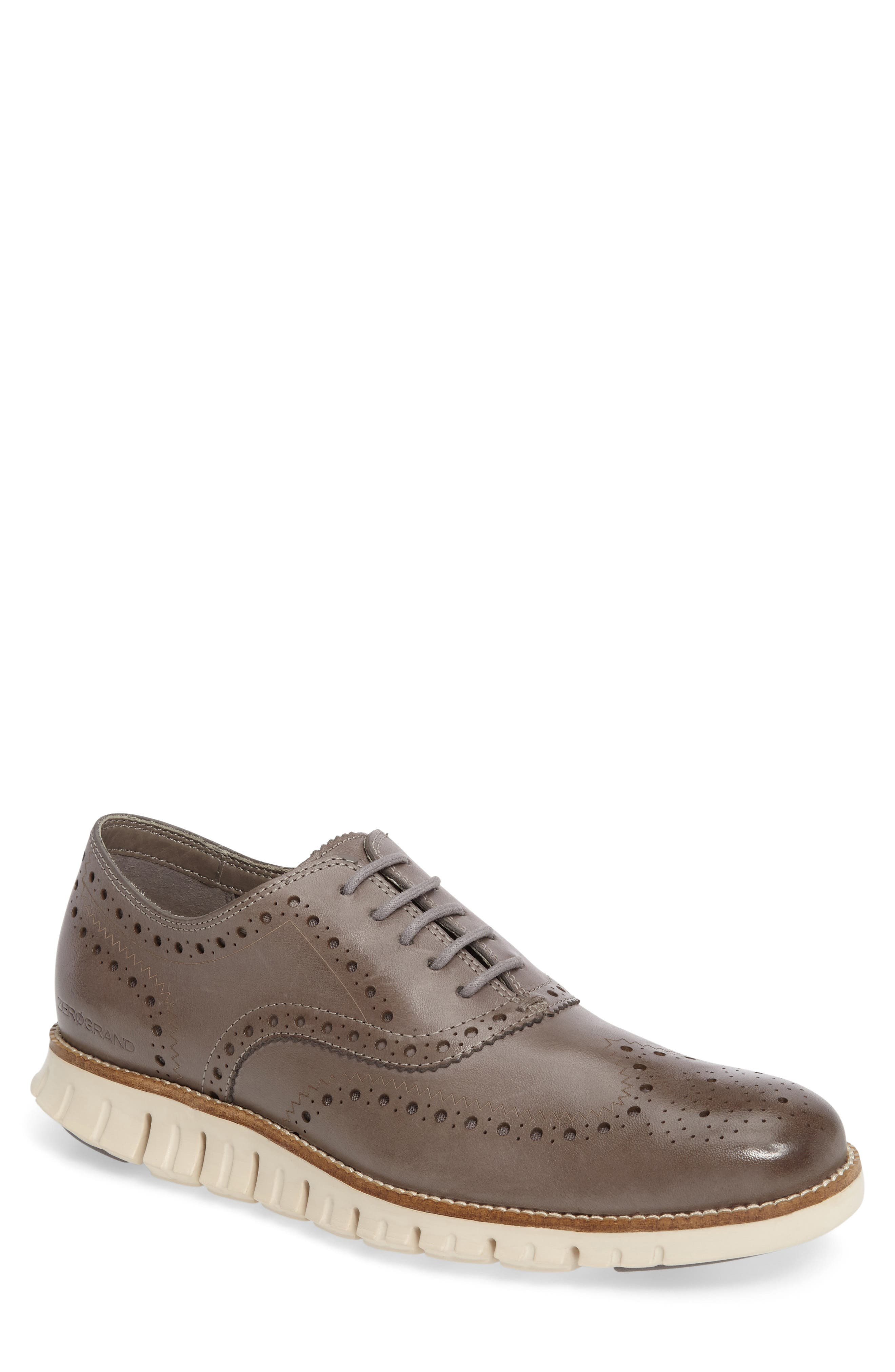 'ZeroGrand' Wingtip Oxford,                             Main thumbnail 1, color,                             IRONSTONE LEATHER
