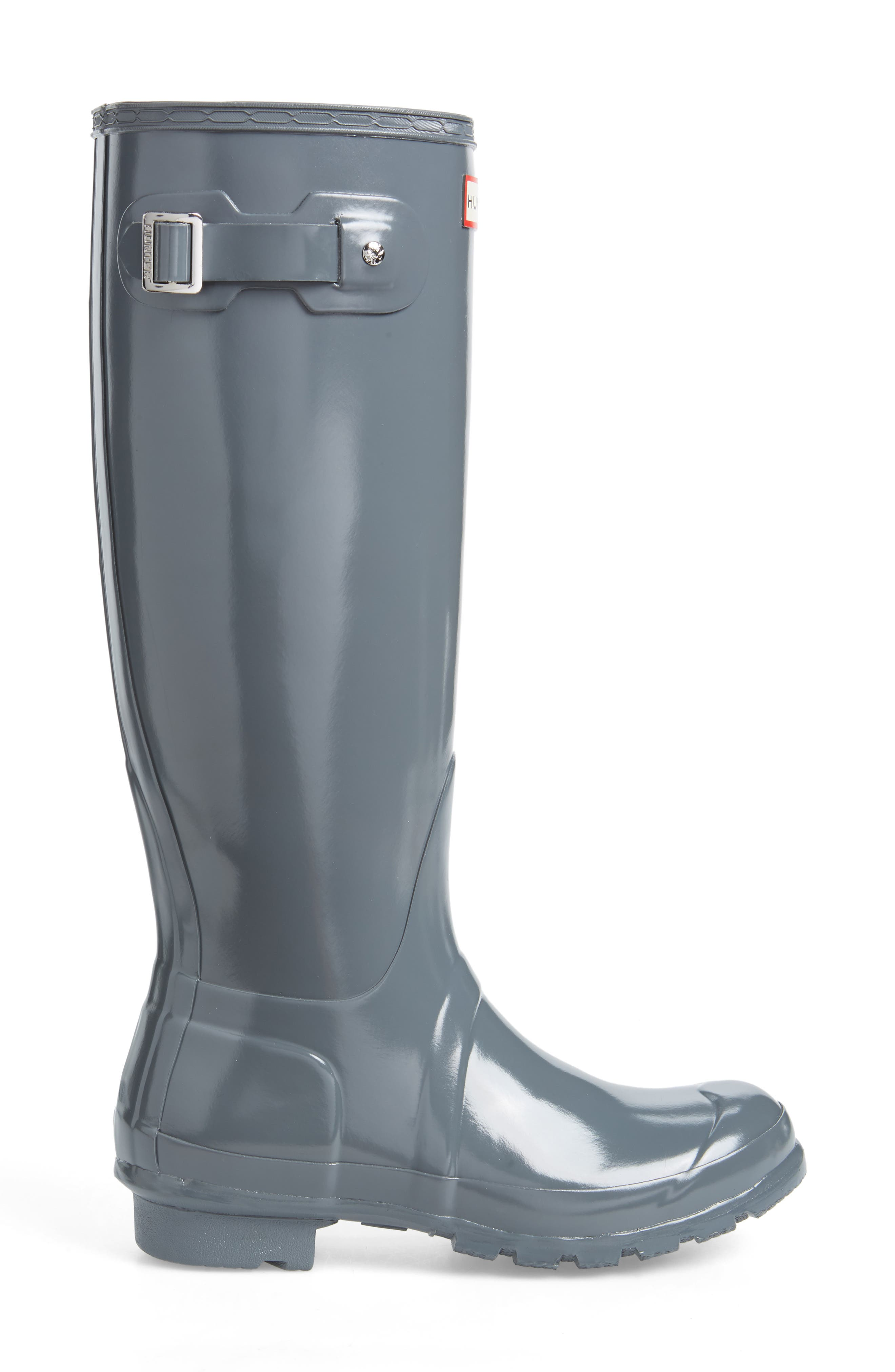 Original High Gloss Waterproof Boot,                             Alternate thumbnail 3, color,                             FEATHER