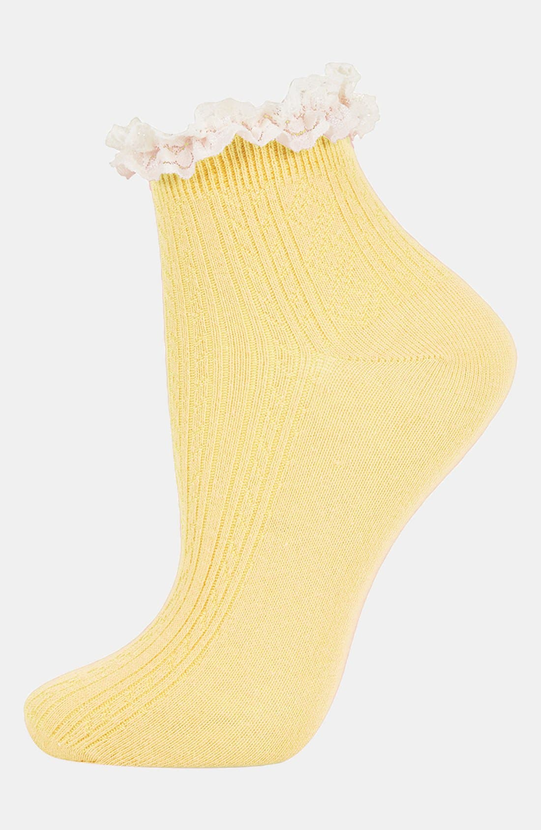 Lace Trim Ankle Socks,                             Main thumbnail 25, color,