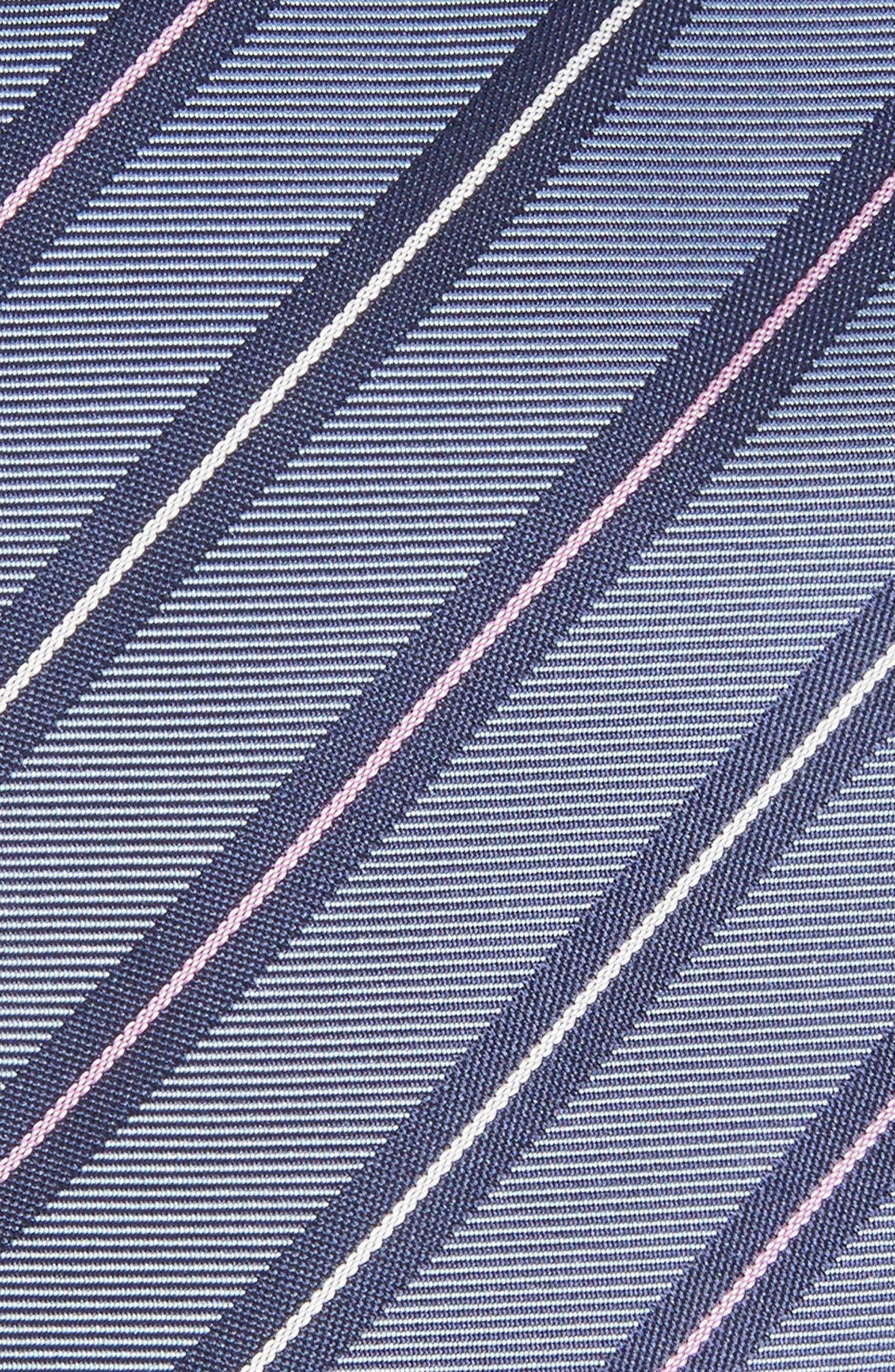 Stripe Silk Tie,                             Alternate thumbnail 2, color,                             410