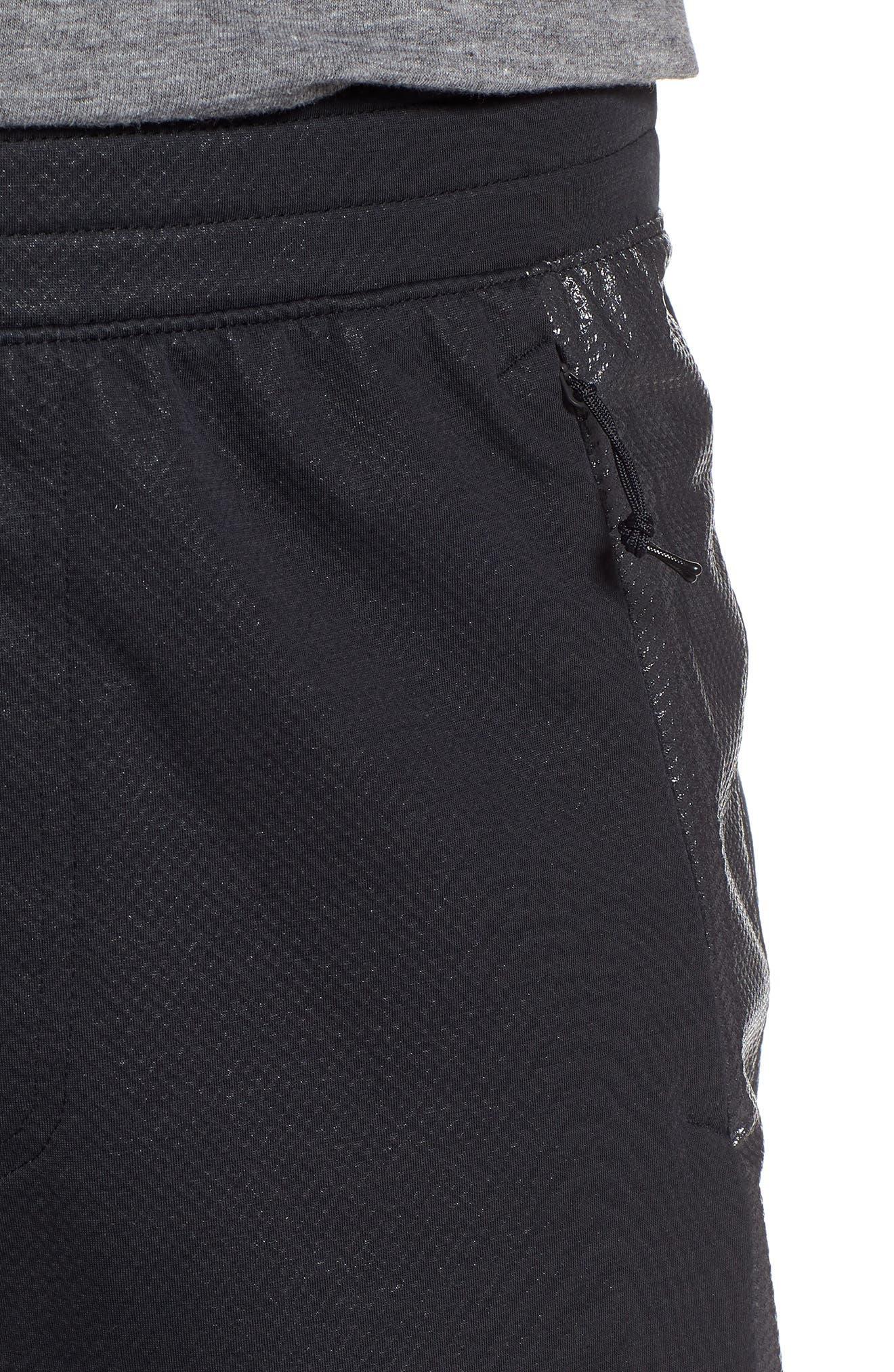 Unstoppable Swacket Training Pants,                             Alternate thumbnail 4, color,                             BLACK FULL HEATHER/ BLACK