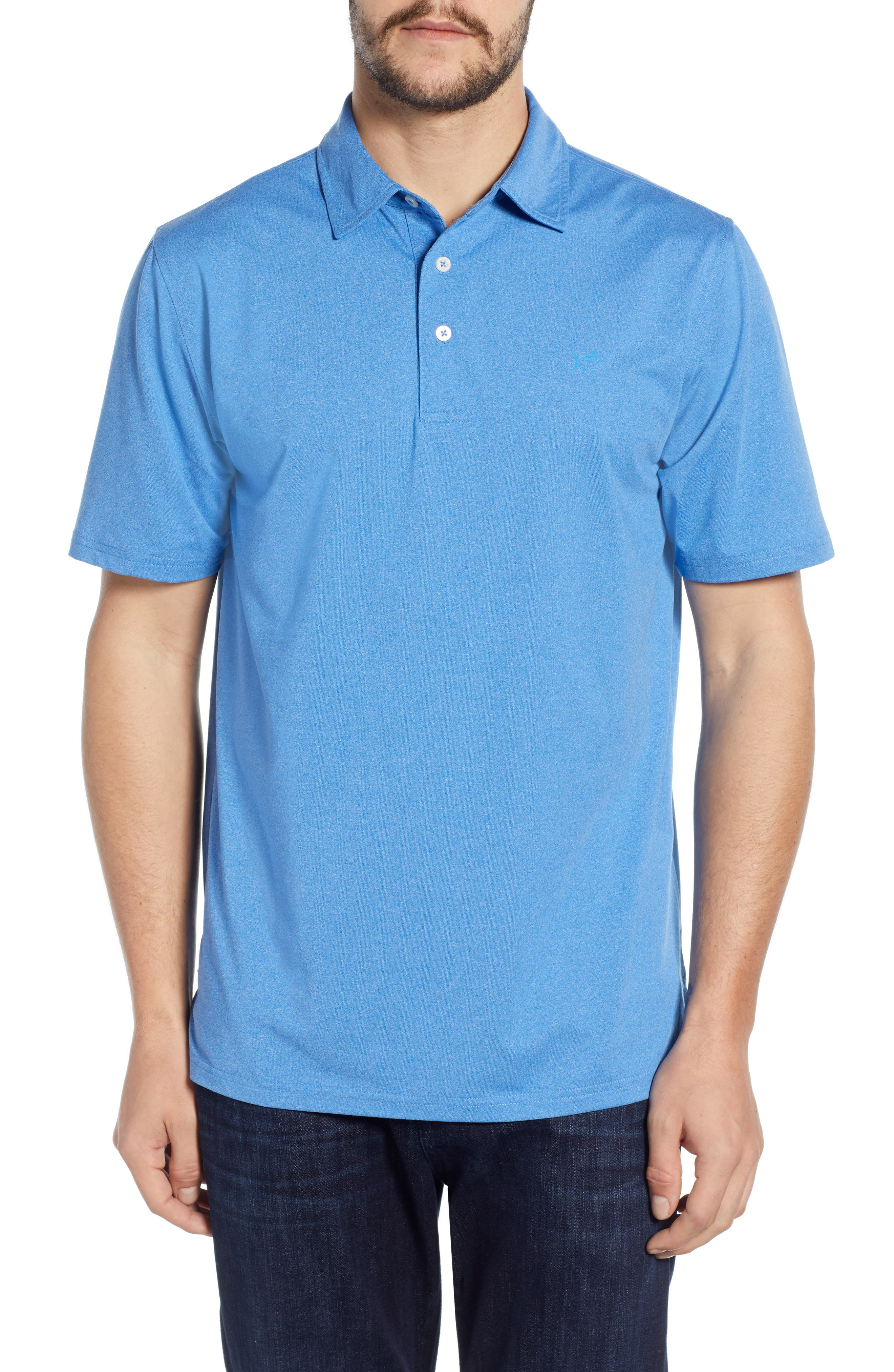 Southern Tide Driver Performance Jersey Polo, Blue