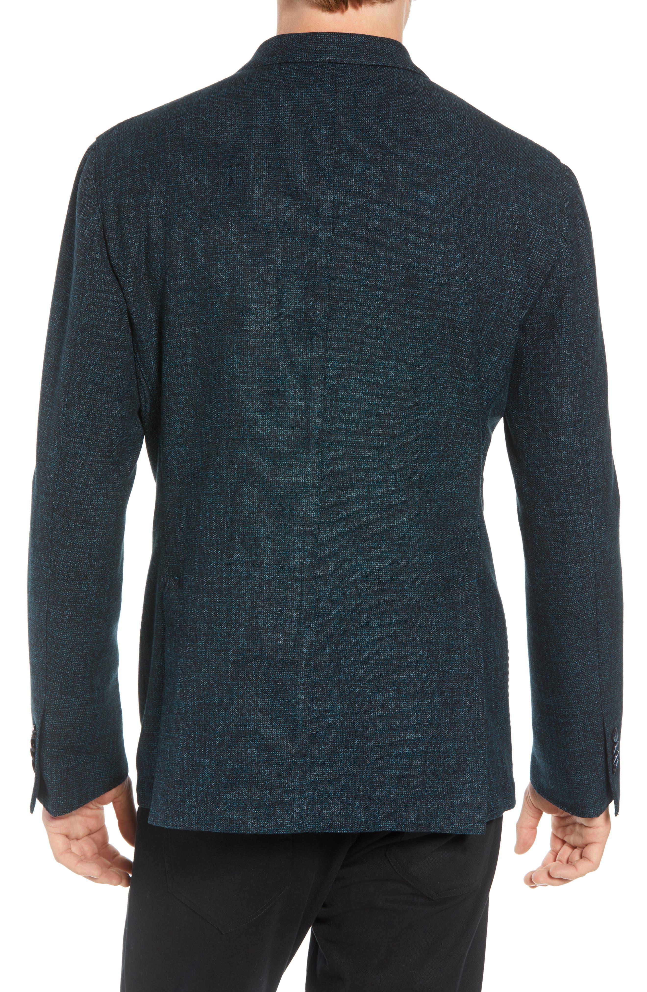 L.B.M 1911 Classic Fit Cotton & Wool Blazer,                             Alternate thumbnail 2, color,                             GREEN