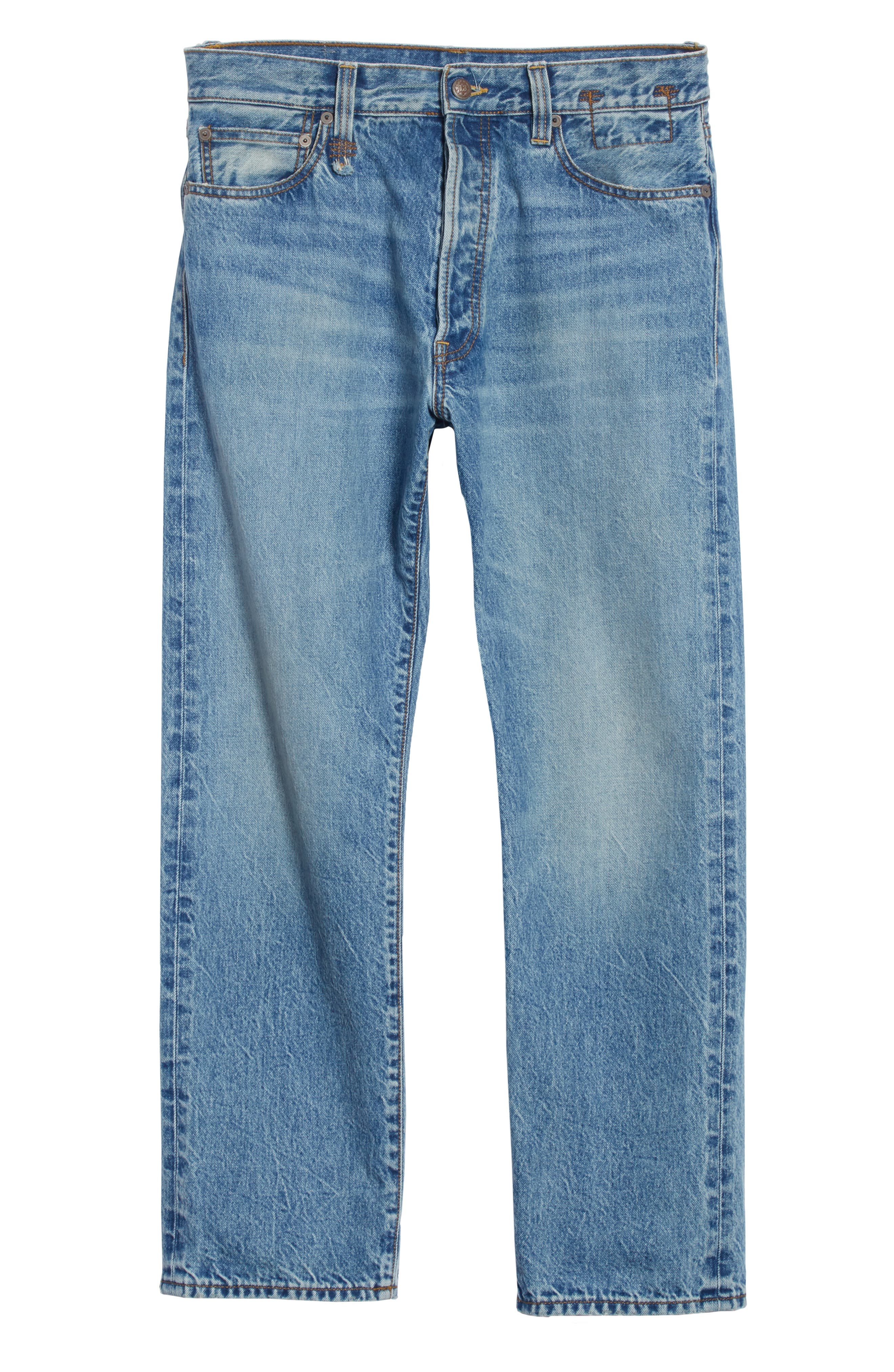 Hayden Relaxed Fit Jeans,                             Alternate thumbnail 6, color,                             BLUE