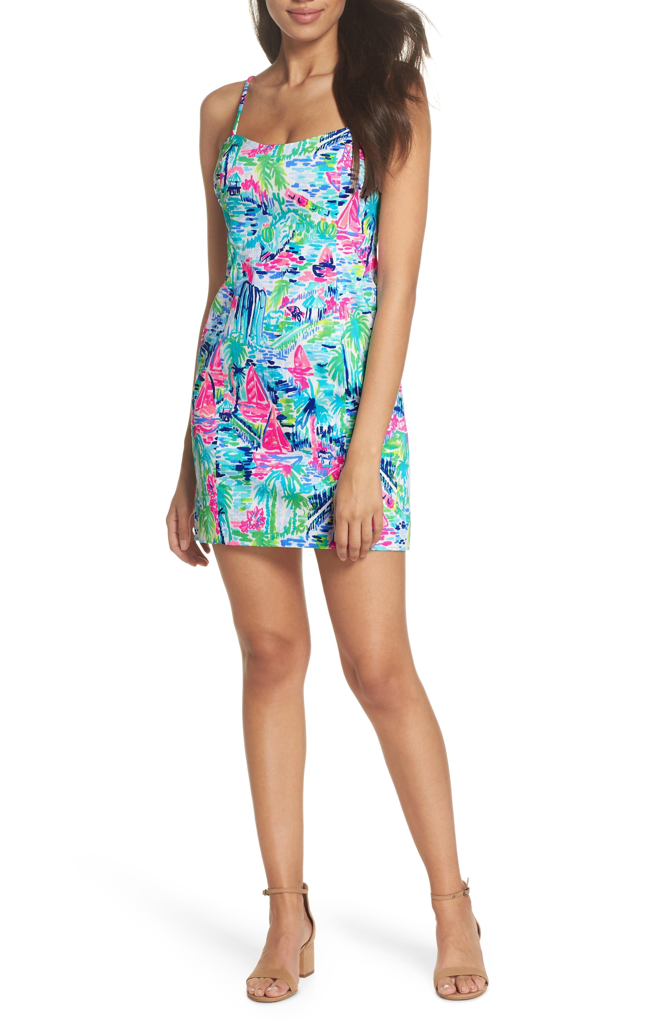 Shelli Stretch Sundress,                         Main,                         color, MULTI