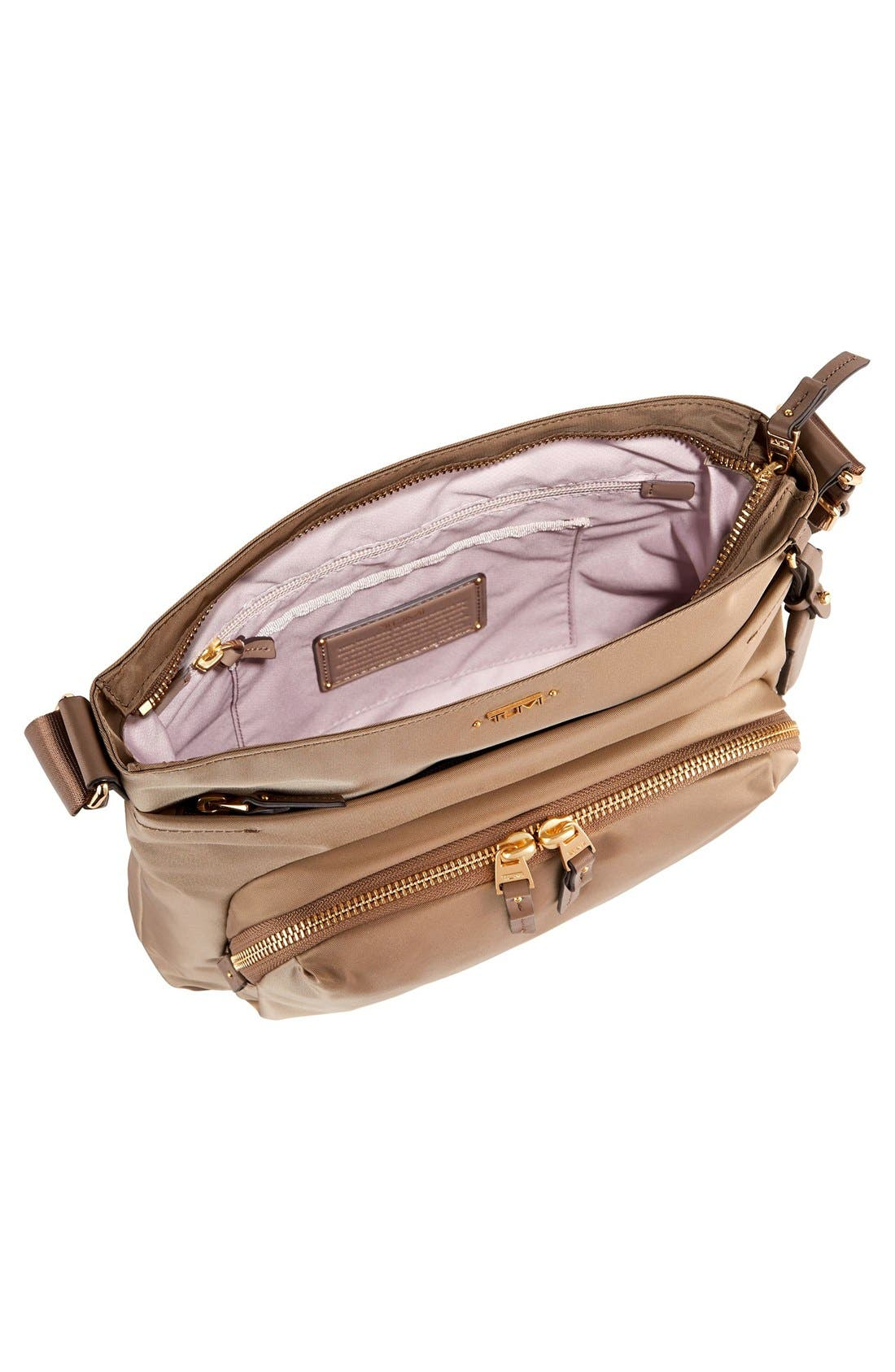 Voyageur - Capri Nylon Crossbody Bag,                             Alternate thumbnail 5, color,                             KHAKI
