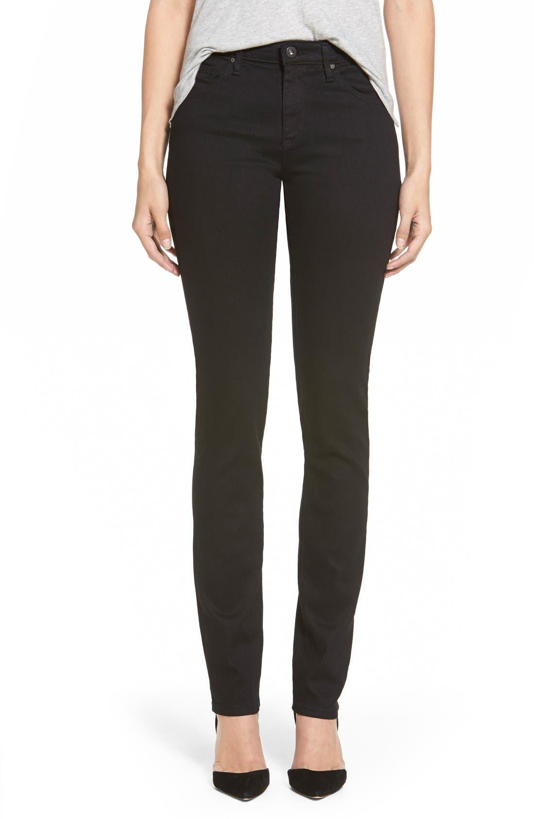 Harper Slim Straight Leg Jeans,                         Main,                         color, OVERDYED BLACK
