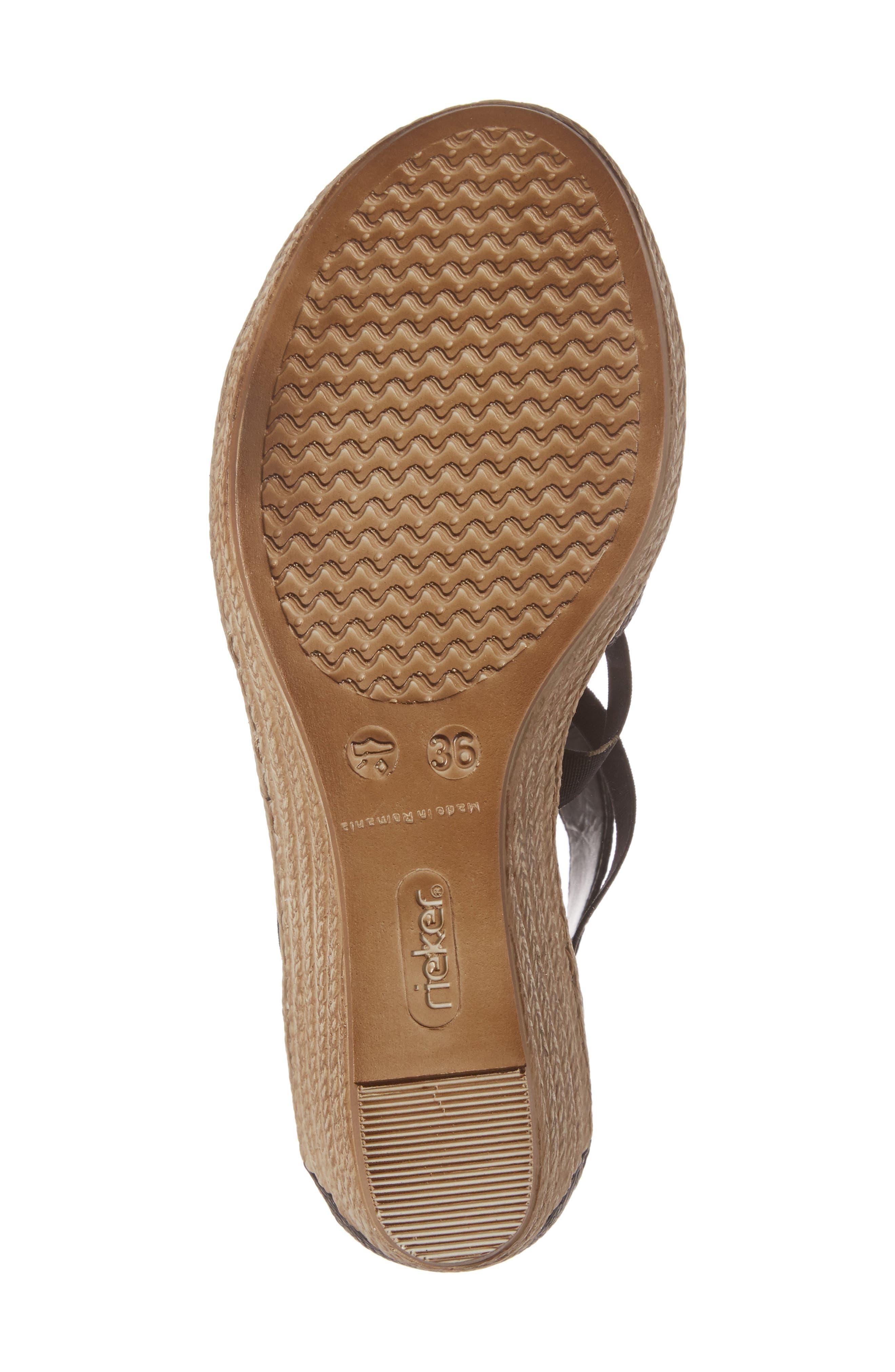 RIEKER ANTISTRESS,                             Fanni 39 Wedge Sandal,                             Alternate thumbnail 6, color,                             001