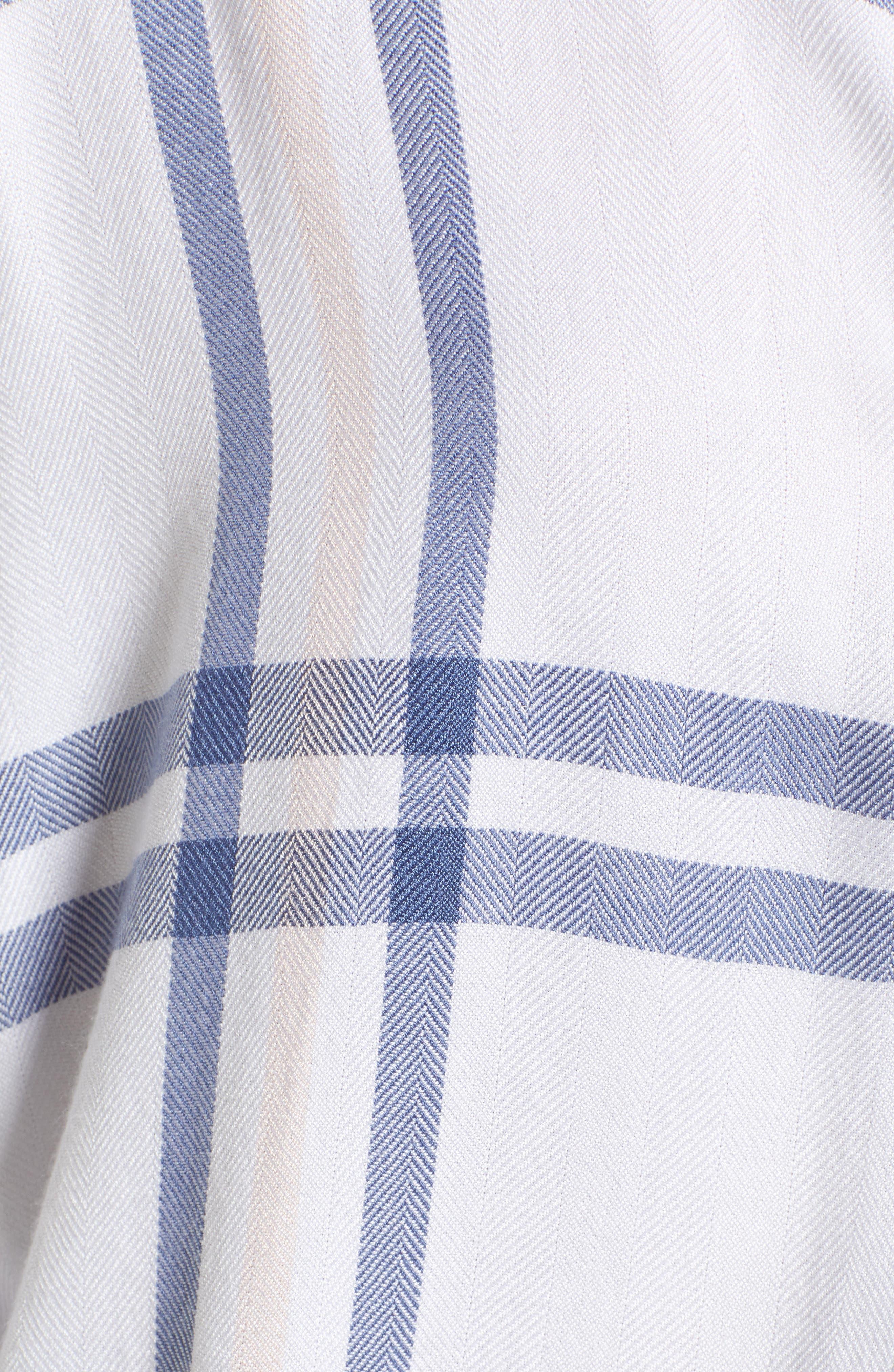 Hunter Plaid Shirt,                             Alternate thumbnail 6, color,                             INDIGO POWDER BLUSH