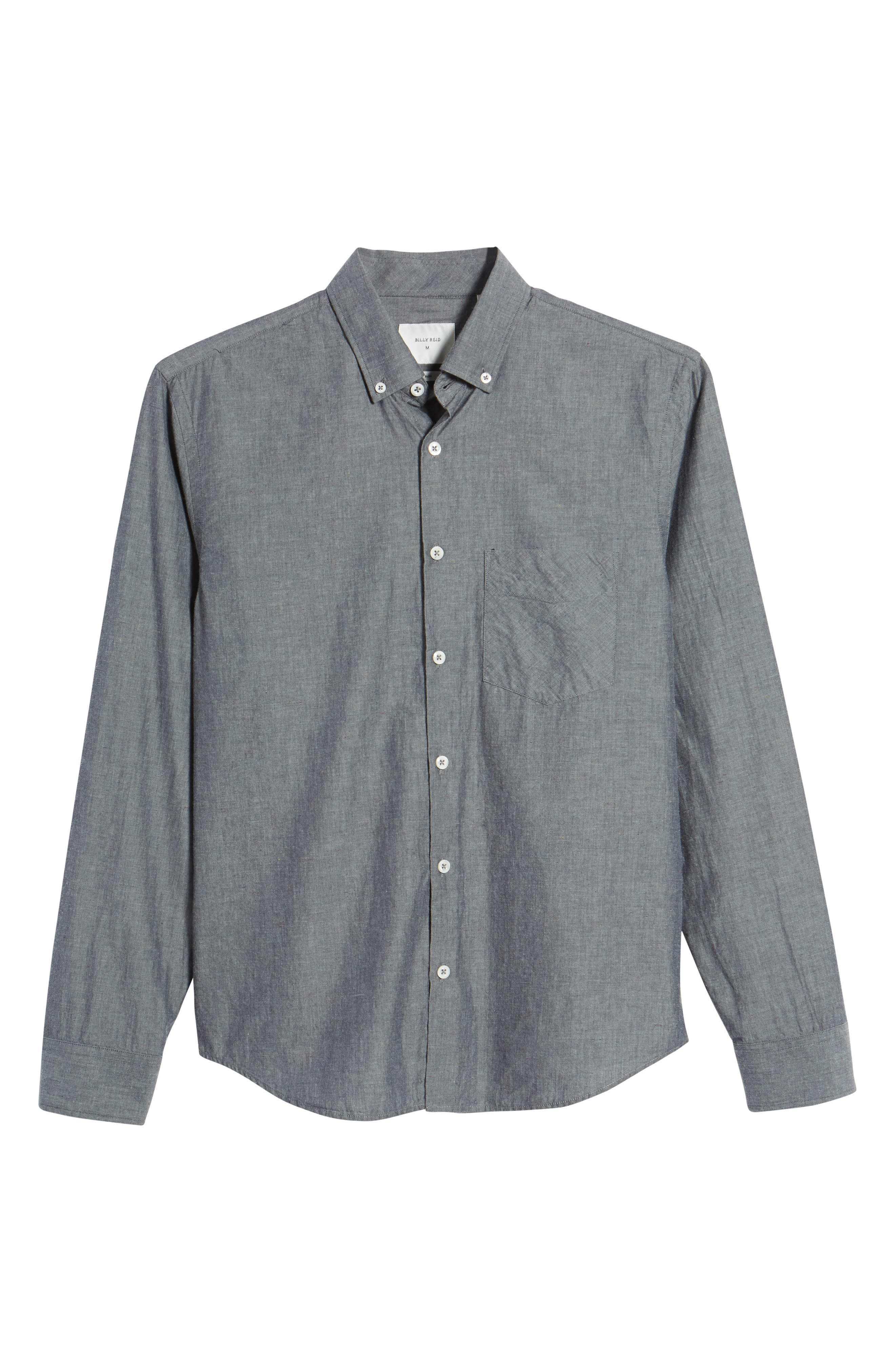 Kirby Slim Fit Solid Sport Shirt,                             Alternate thumbnail 6, color,                             400