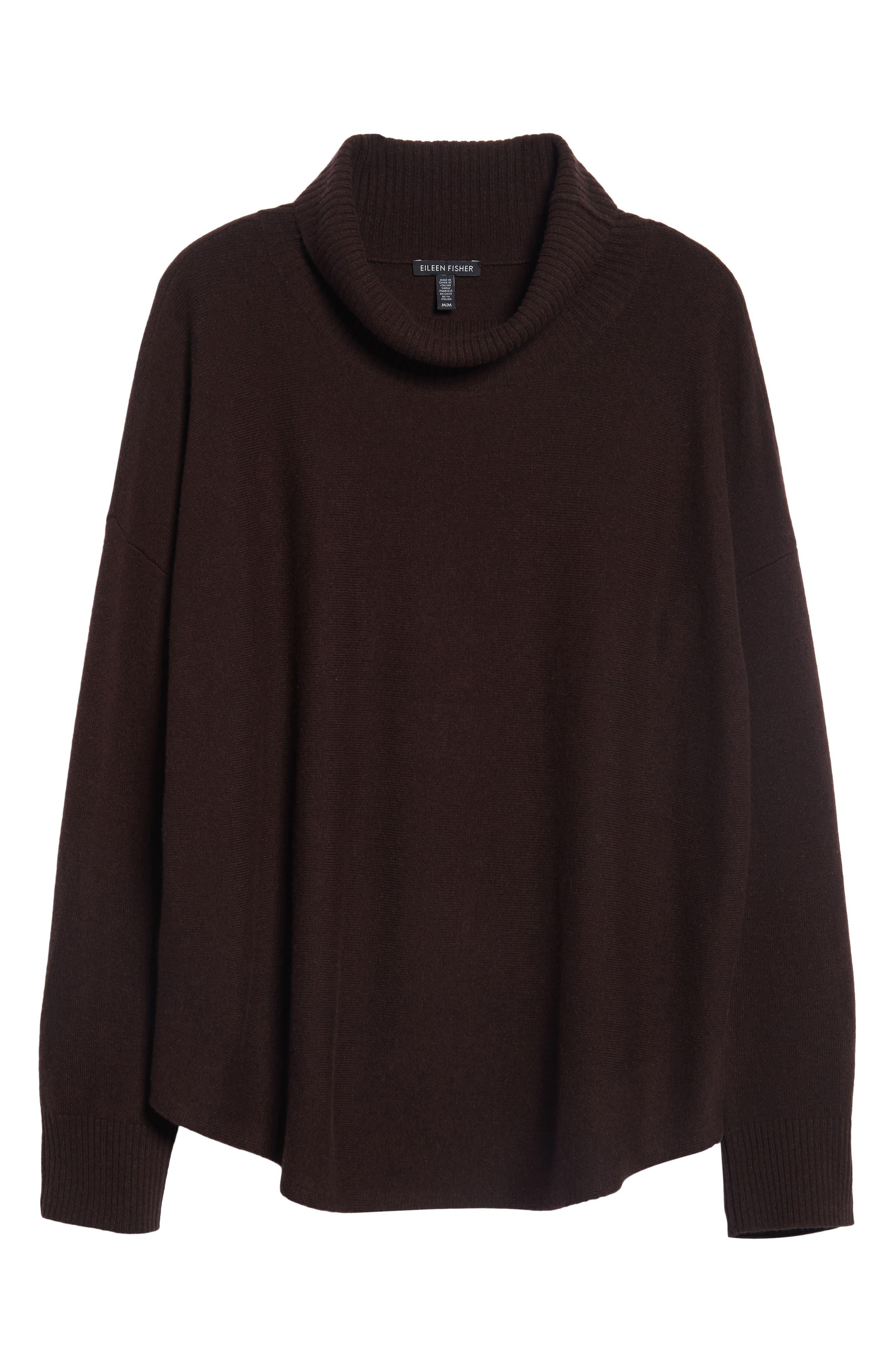 EileenFisher Draped TurtleneckSweater,                             Alternate thumbnail 6, color,                             211