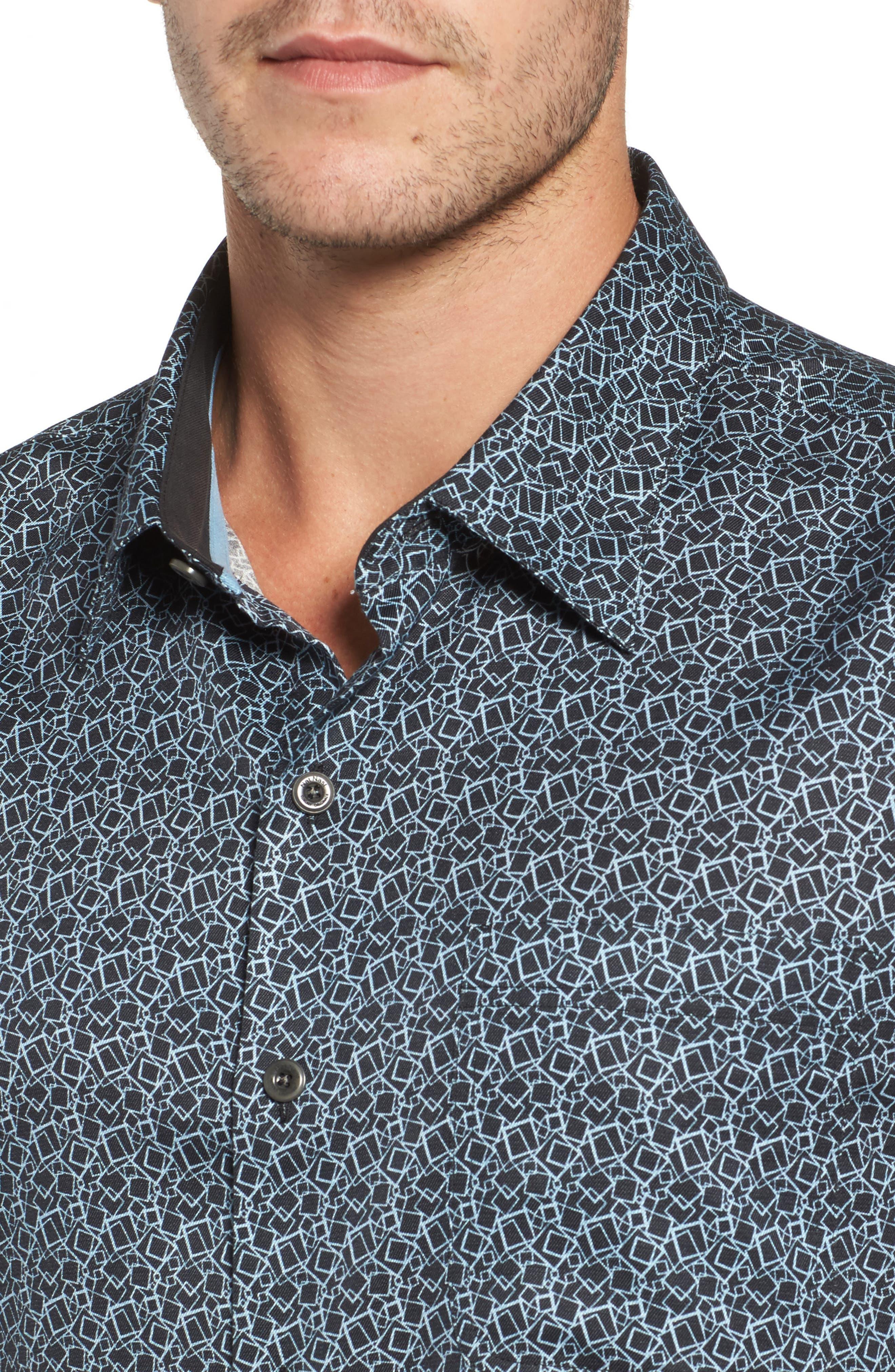 Blizzard Classic Fit Silk Blend Sport Shirt,                             Alternate thumbnail 4, color,                             001