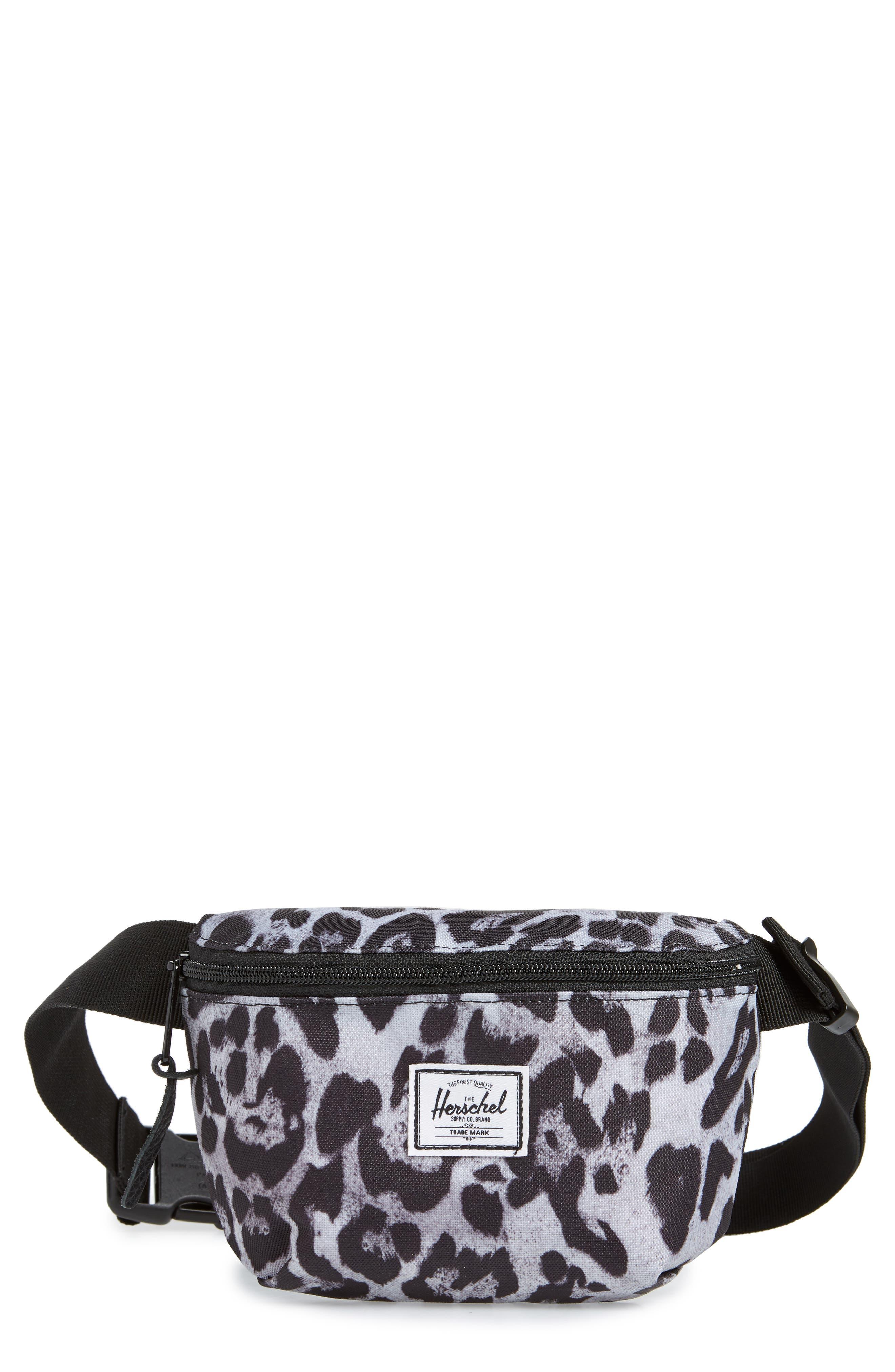 HERSCHEL SUPPLY CO. Herschel Fourteen Snow Leopard Belt Bag in Black Crosshatch