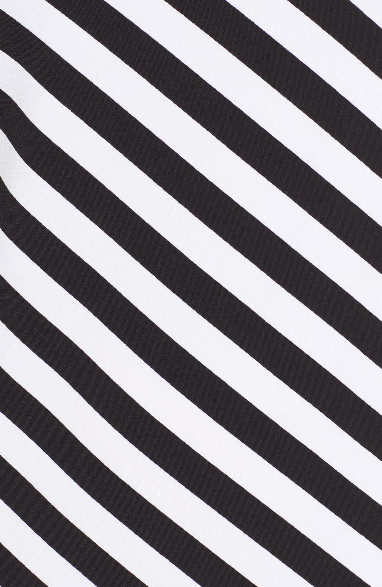 Tulip Sleeve Stripe Dress,                             Alternate thumbnail 5, color,                             018