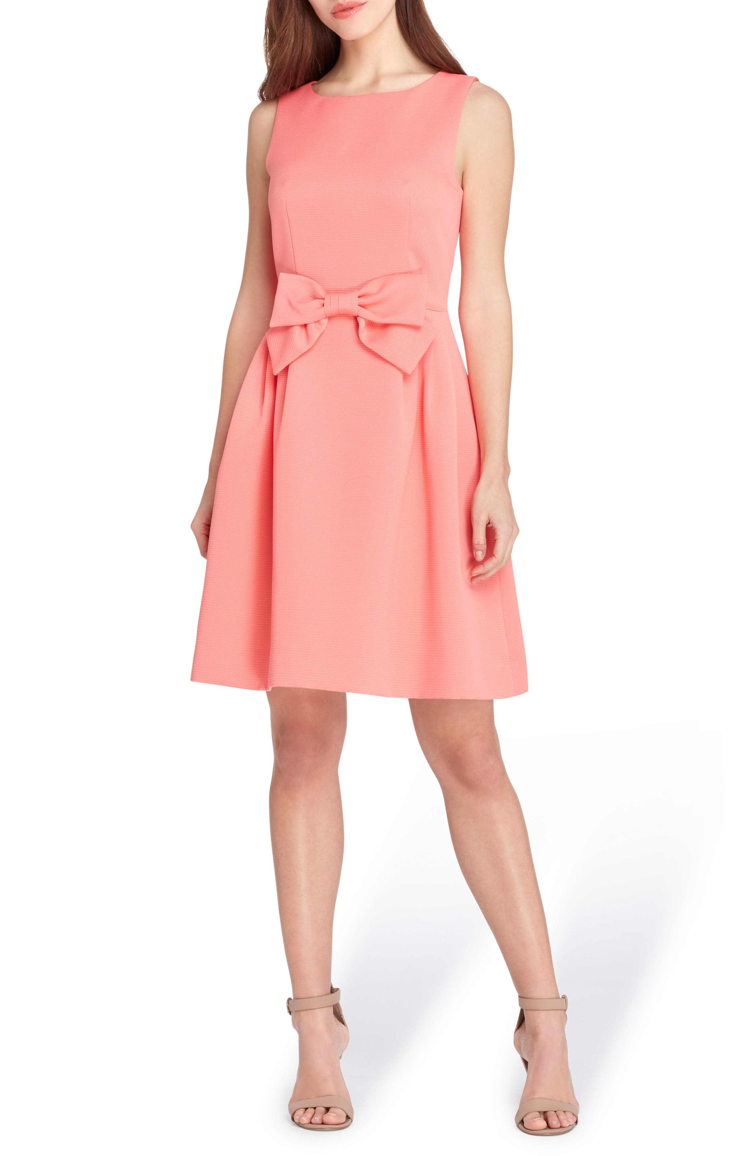 Bow Fit & Flare Dress,                             Main thumbnail 1, color,                             950