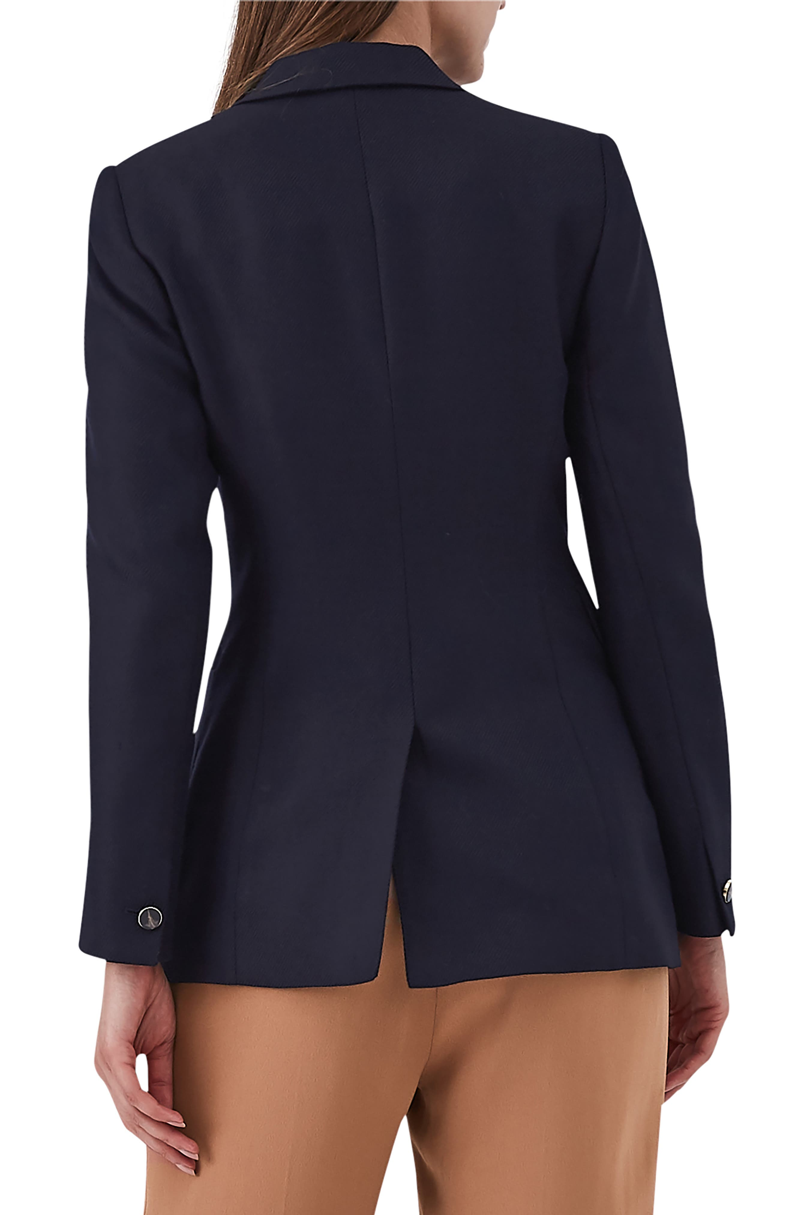 Tate Double Breasted Jacket,                             Alternate thumbnail 2, color,                             NAVY