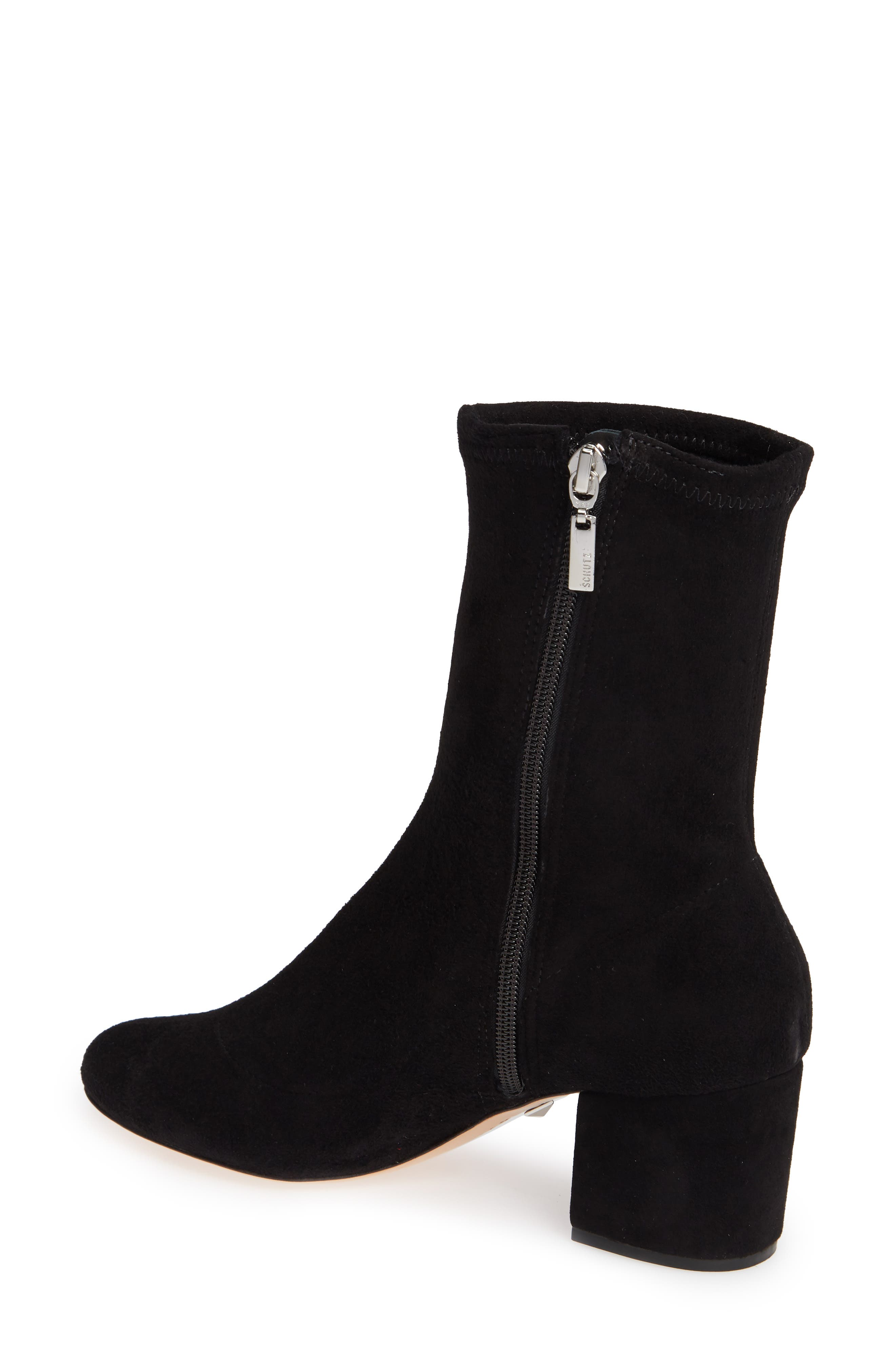 SCHUTZ,                             Lupe Stretch Bootie,                             Alternate thumbnail 2, color,                             001