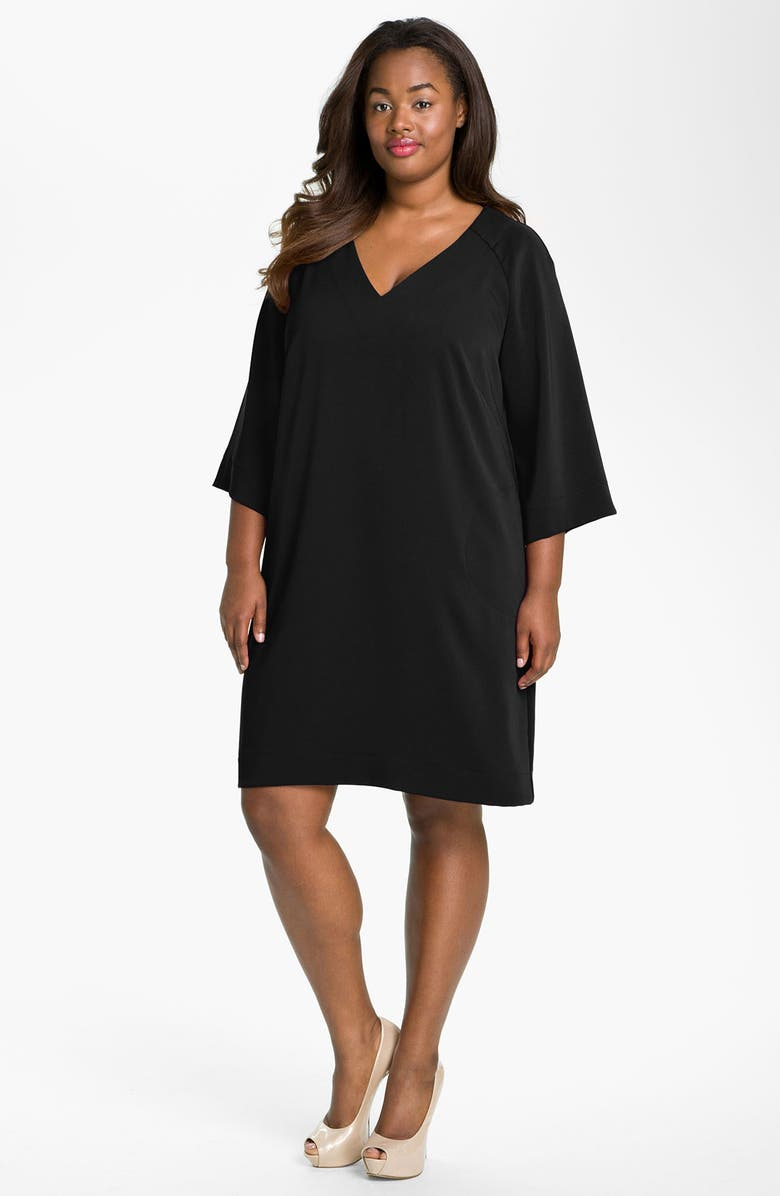 1535e759055 Donna Ricco V-Neck Shift Dress (Plus Size)