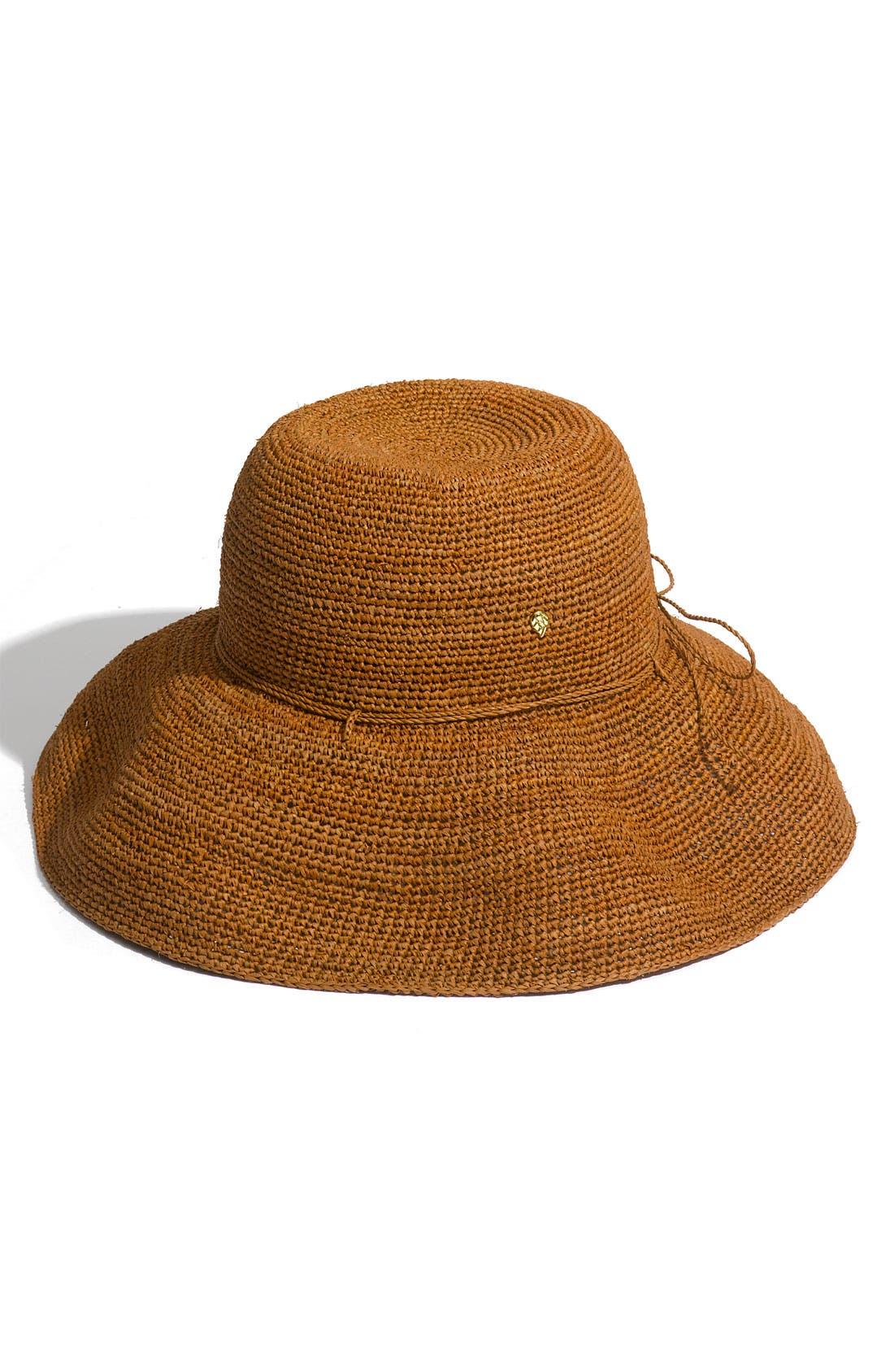 'Provence 12' Packable Raffia Hat,                             Main thumbnail 3, color,