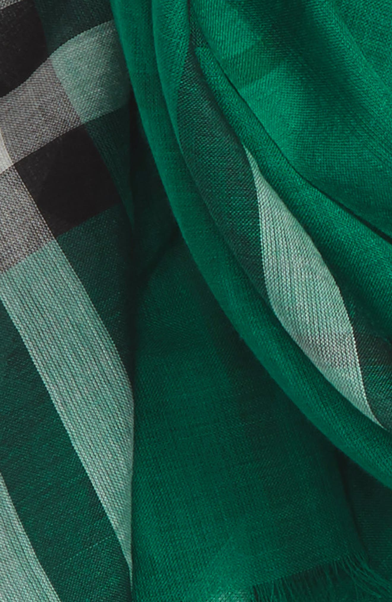 Giant Check Print Wool & Silk Scarf,                             Alternate thumbnail 129, color,