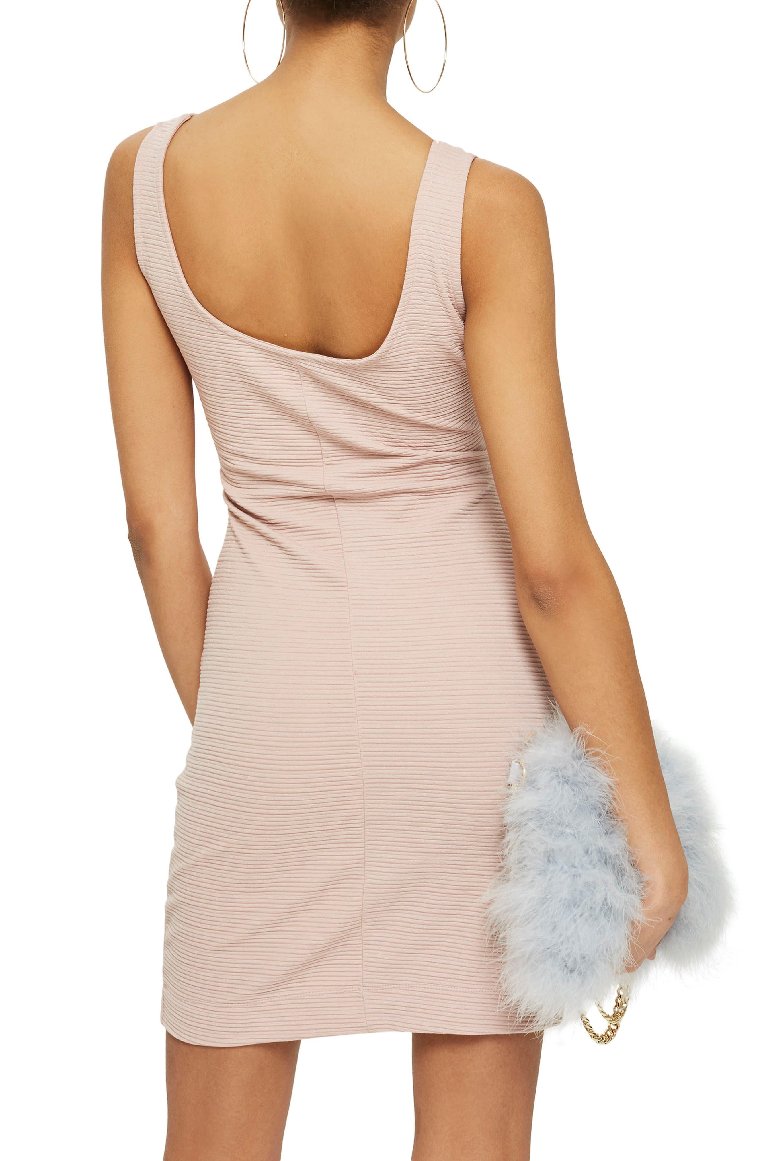 Underbust Rib Body-Con Dress,                             Alternate thumbnail 4, color,