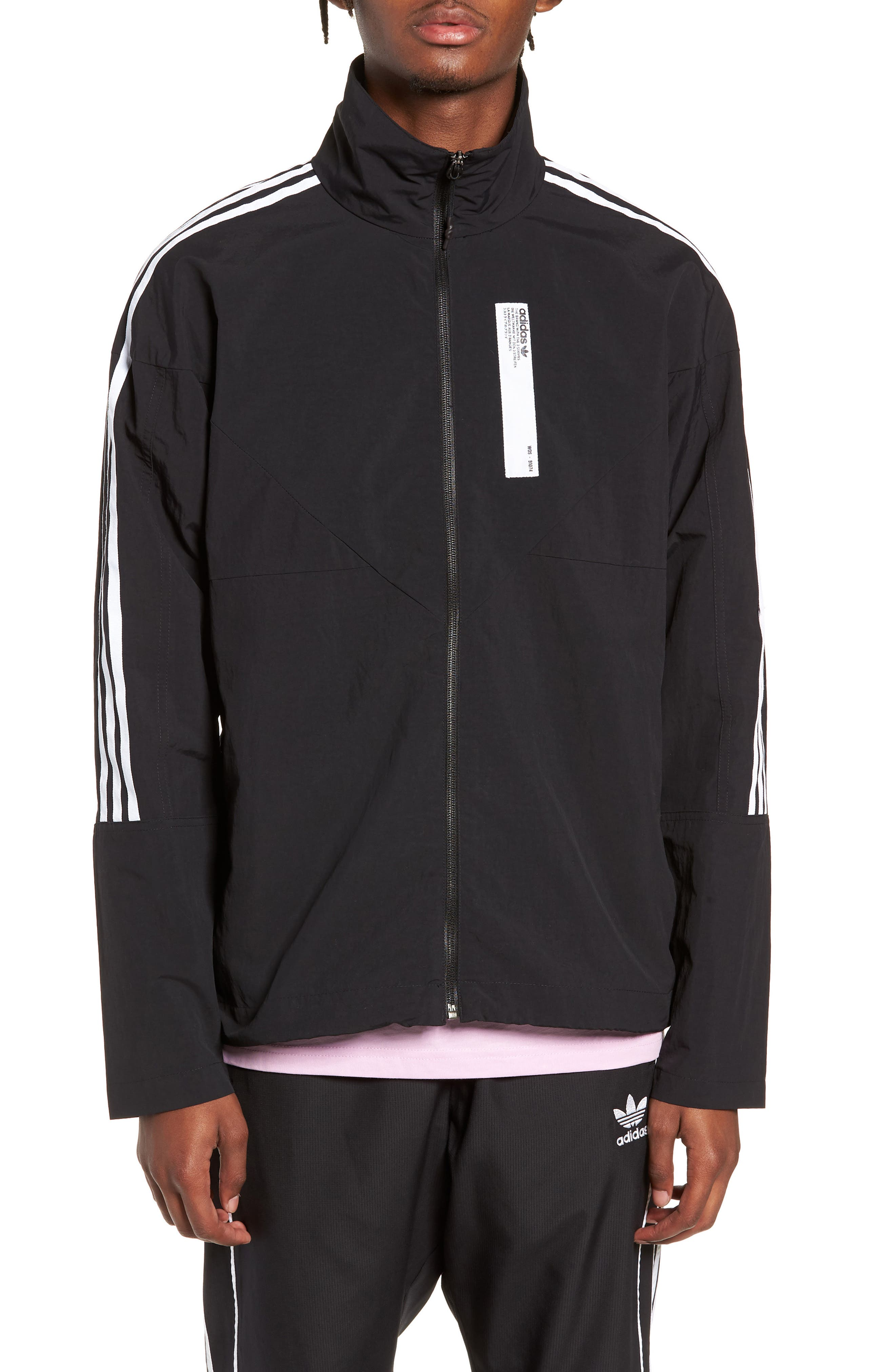 NMD Track Jacket,                             Alternate thumbnail 4, color,                             001