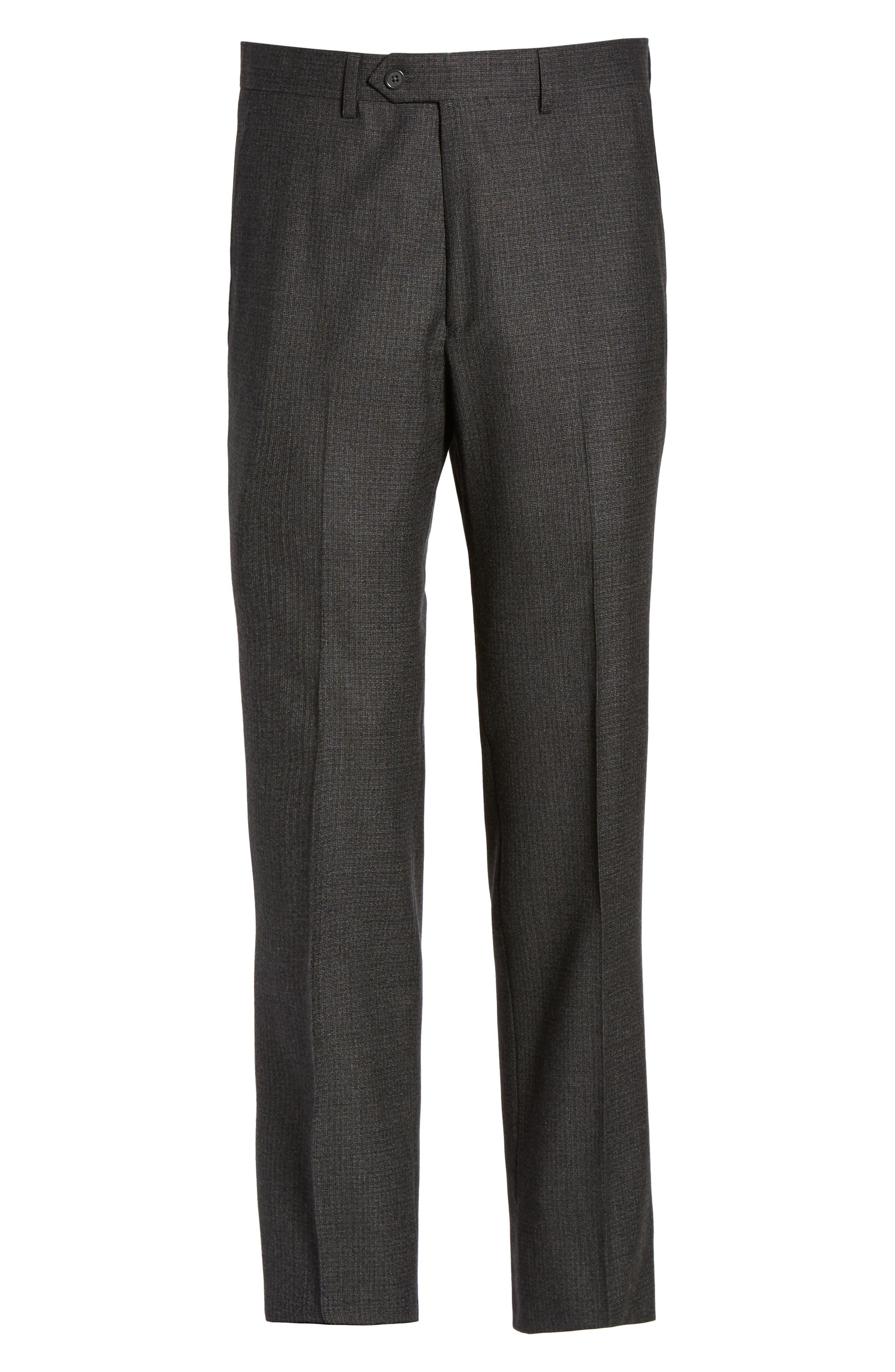 Romero Regular Fit Flat Front Trousers,                             Alternate thumbnail 6, color,                             010