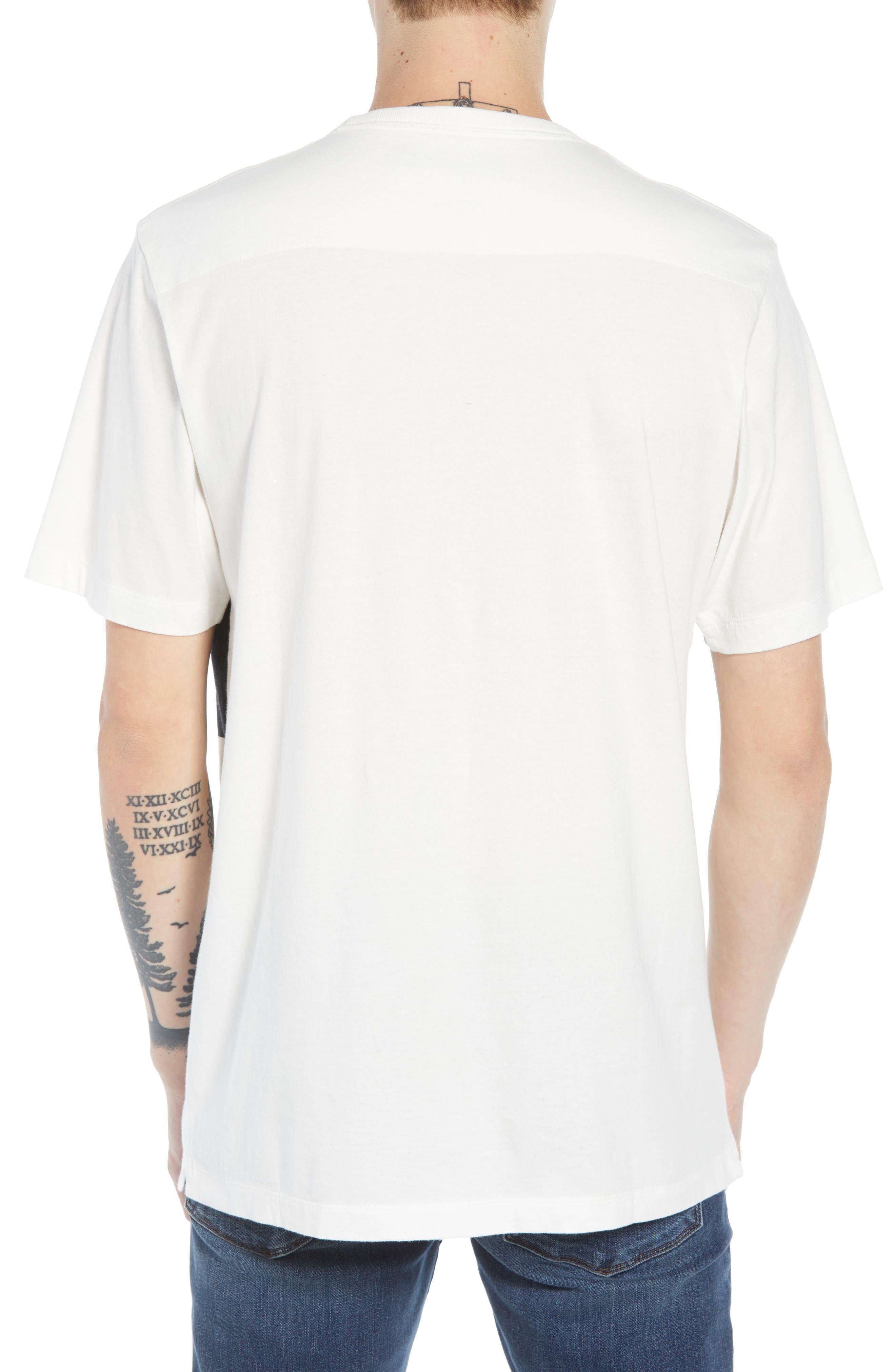 Asymmetrical Colorblock Pocket T-Shirt,                             Alternate thumbnail 2, color,                             CUBA WHITE UTILITY BLUE