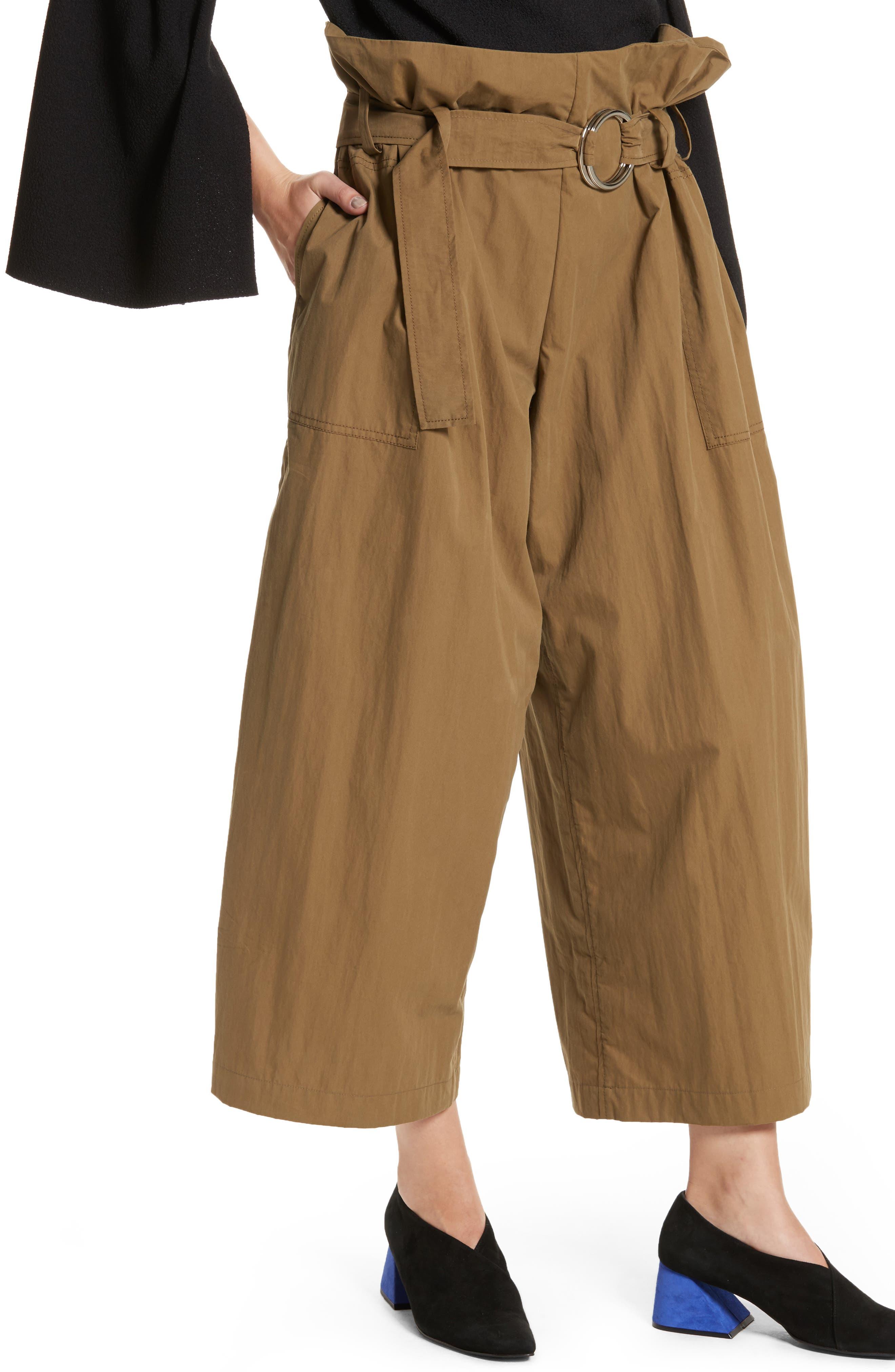 Tilly Belted Paperbag Pants,                             Alternate thumbnail 4, color,                             310