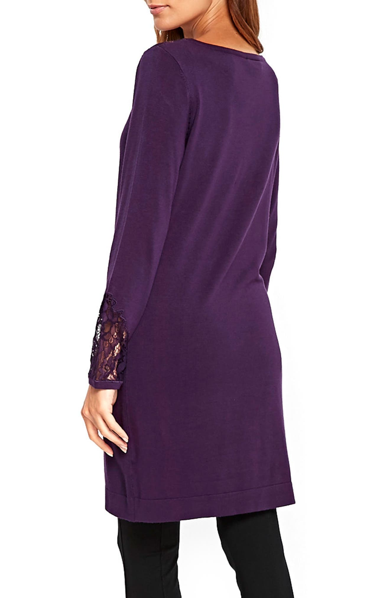Lace Panel Shift Dress,                             Alternate thumbnail 4, color,