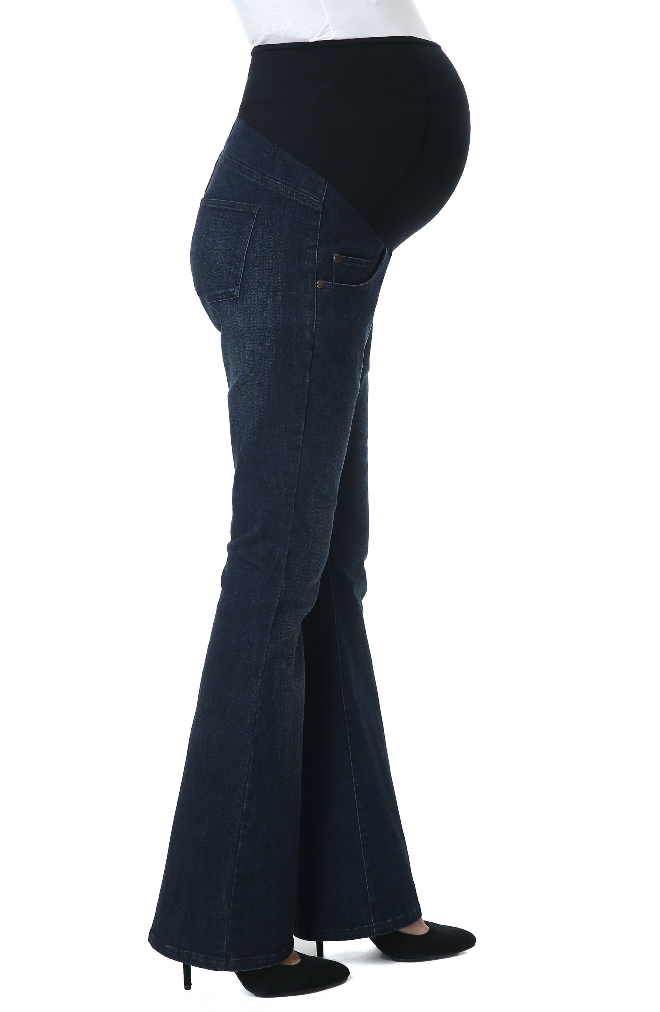 Leni Maternity Bootcut Jeans,                             Alternate thumbnail 3, color,                             010