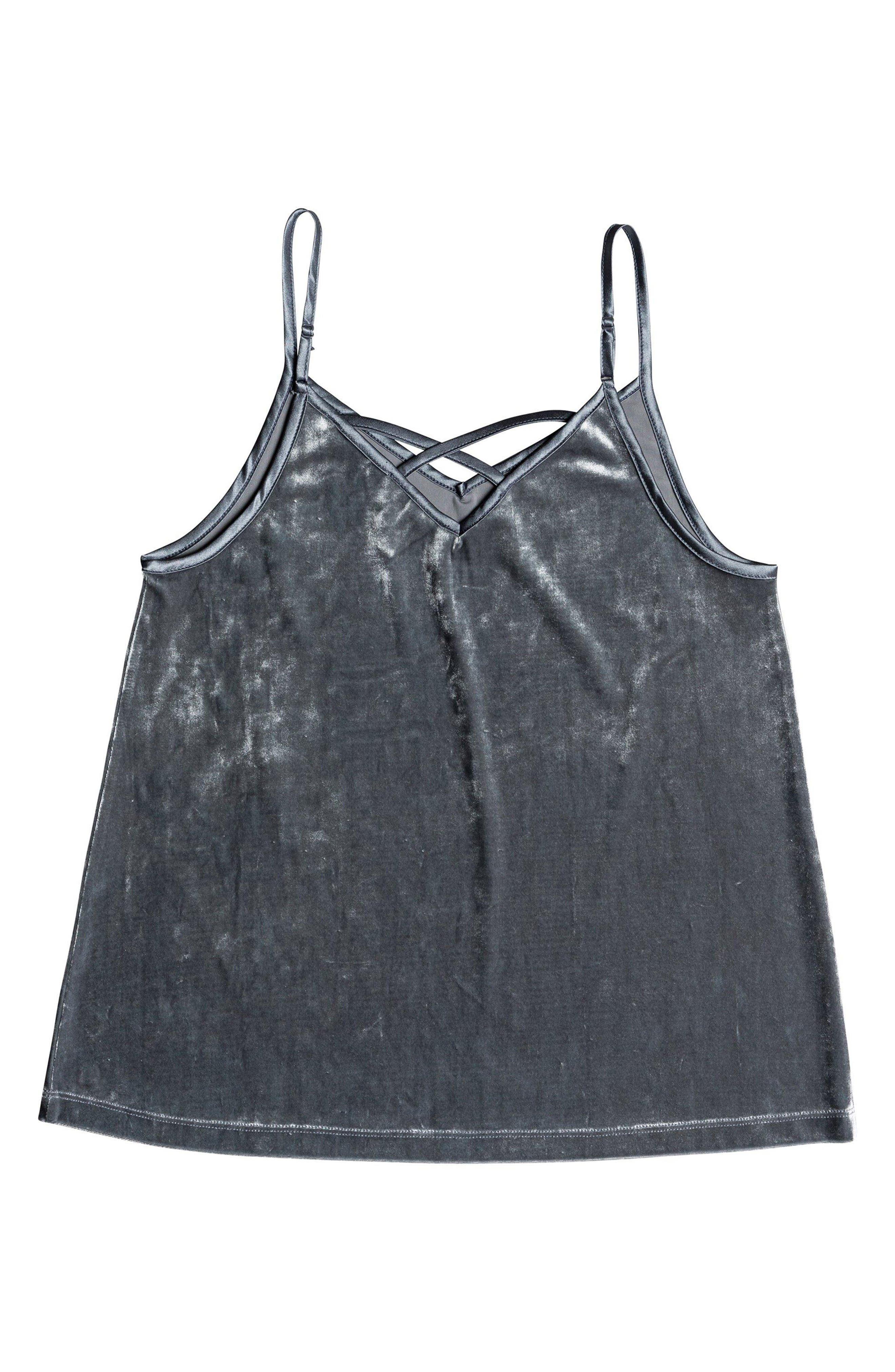 ROXY,                             You Are Pretty Velvet Camisole,                             Alternate thumbnail 5, color,                             TURBULENCE