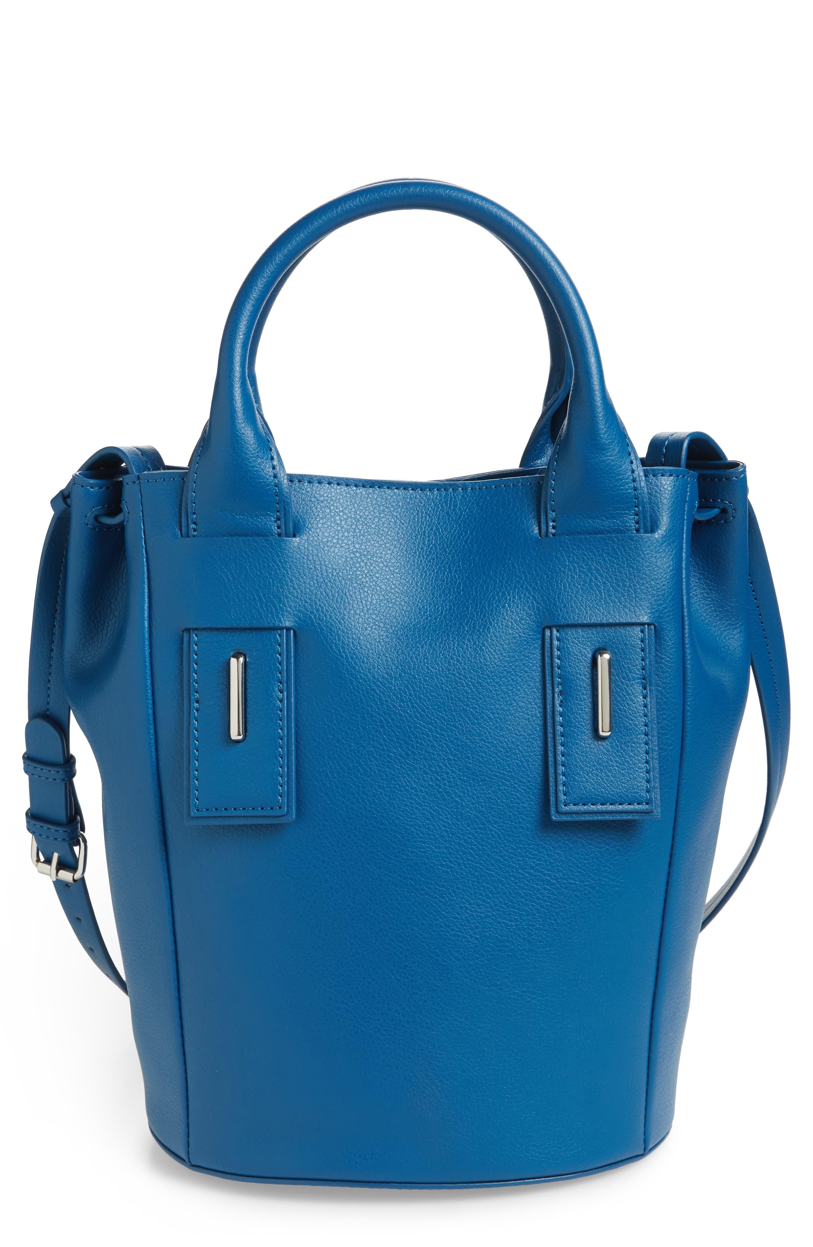 Lennon Leather Bucket Bag,                             Main thumbnail 1, color,                             400