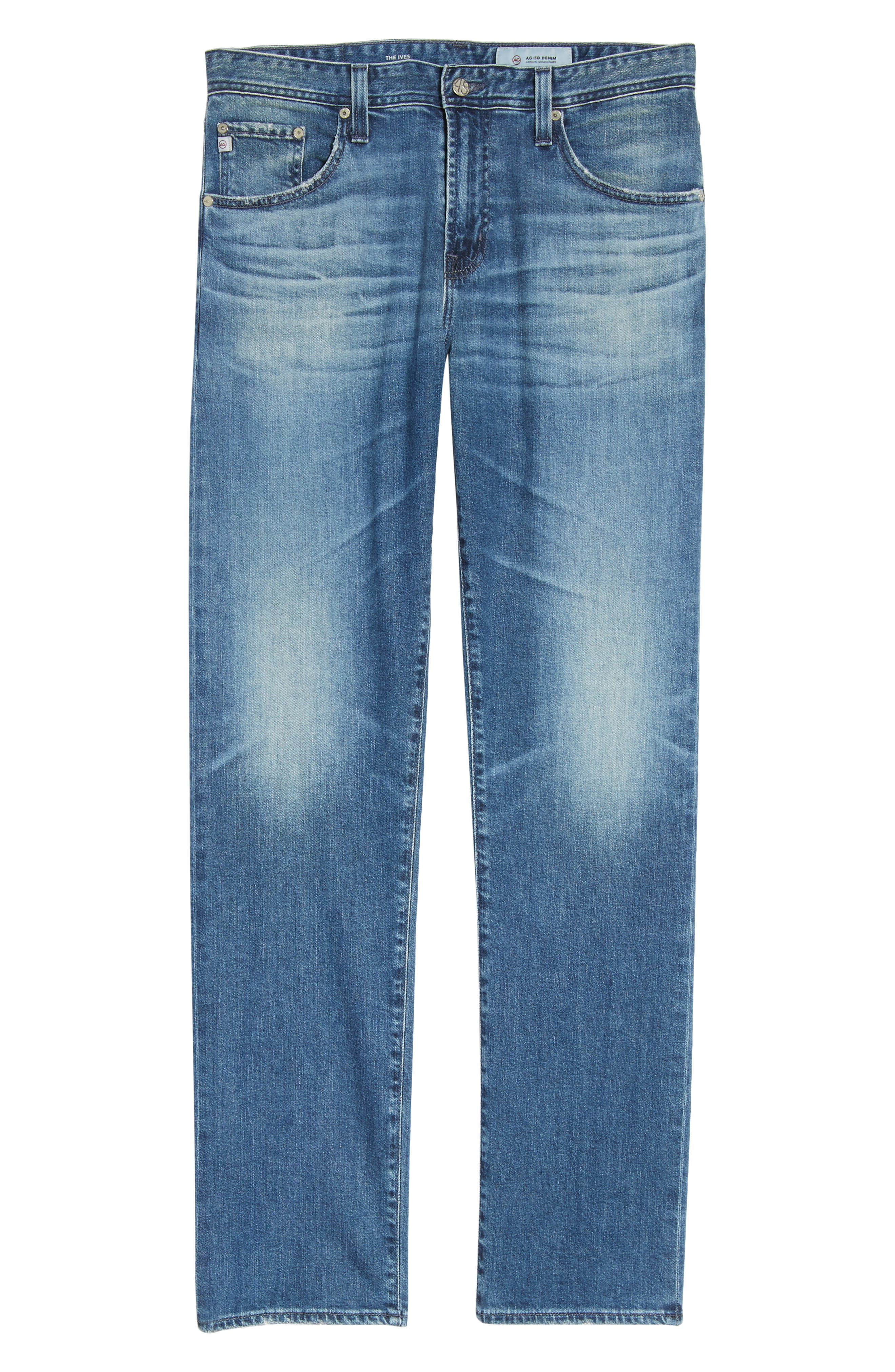 Ives Straight Fit Jeans,                             Alternate thumbnail 6, color,                             468