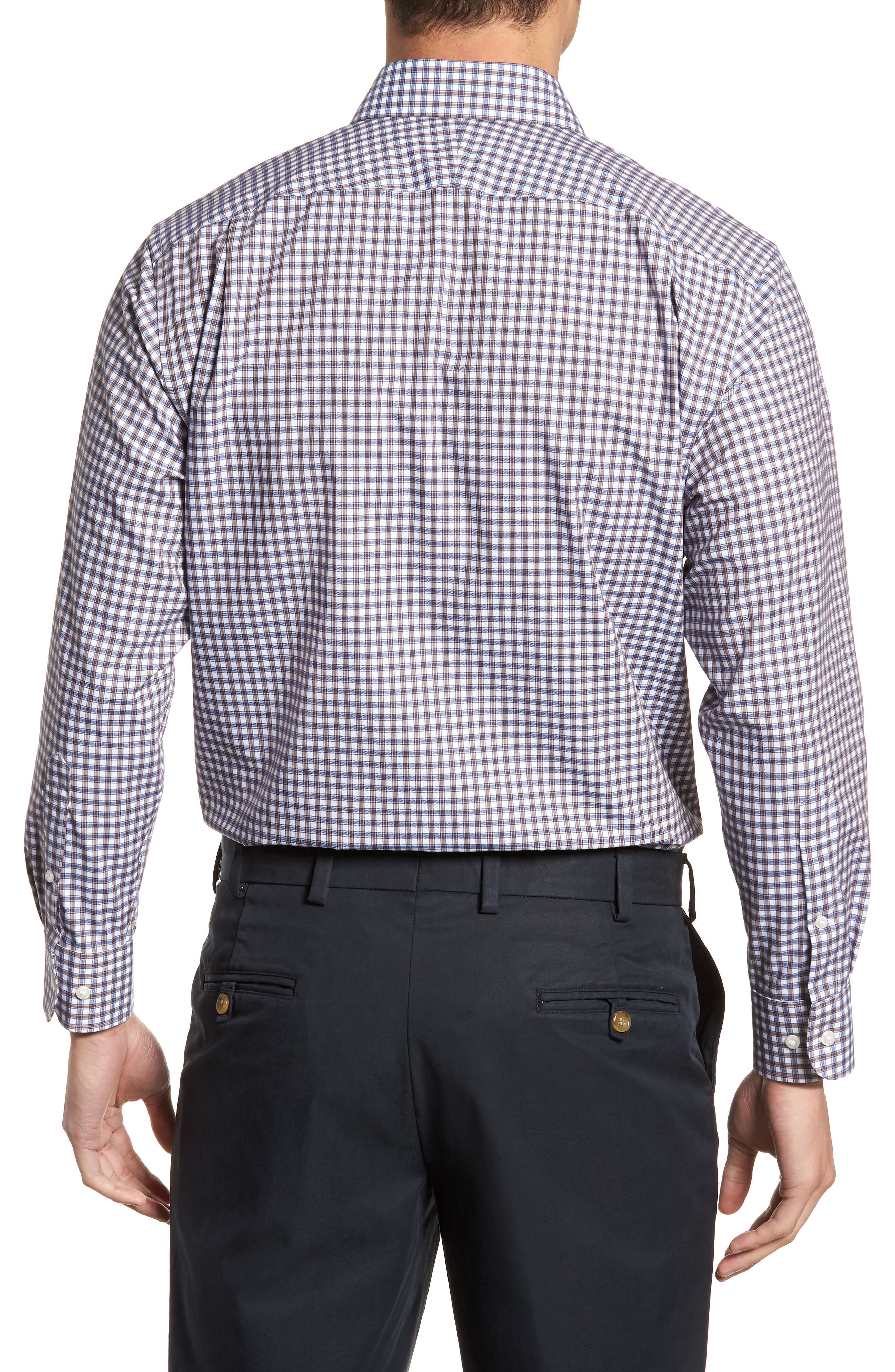 Traditional Fit Non-Iron Check Dress Shirt,                             Alternate thumbnail 3, color,                             210