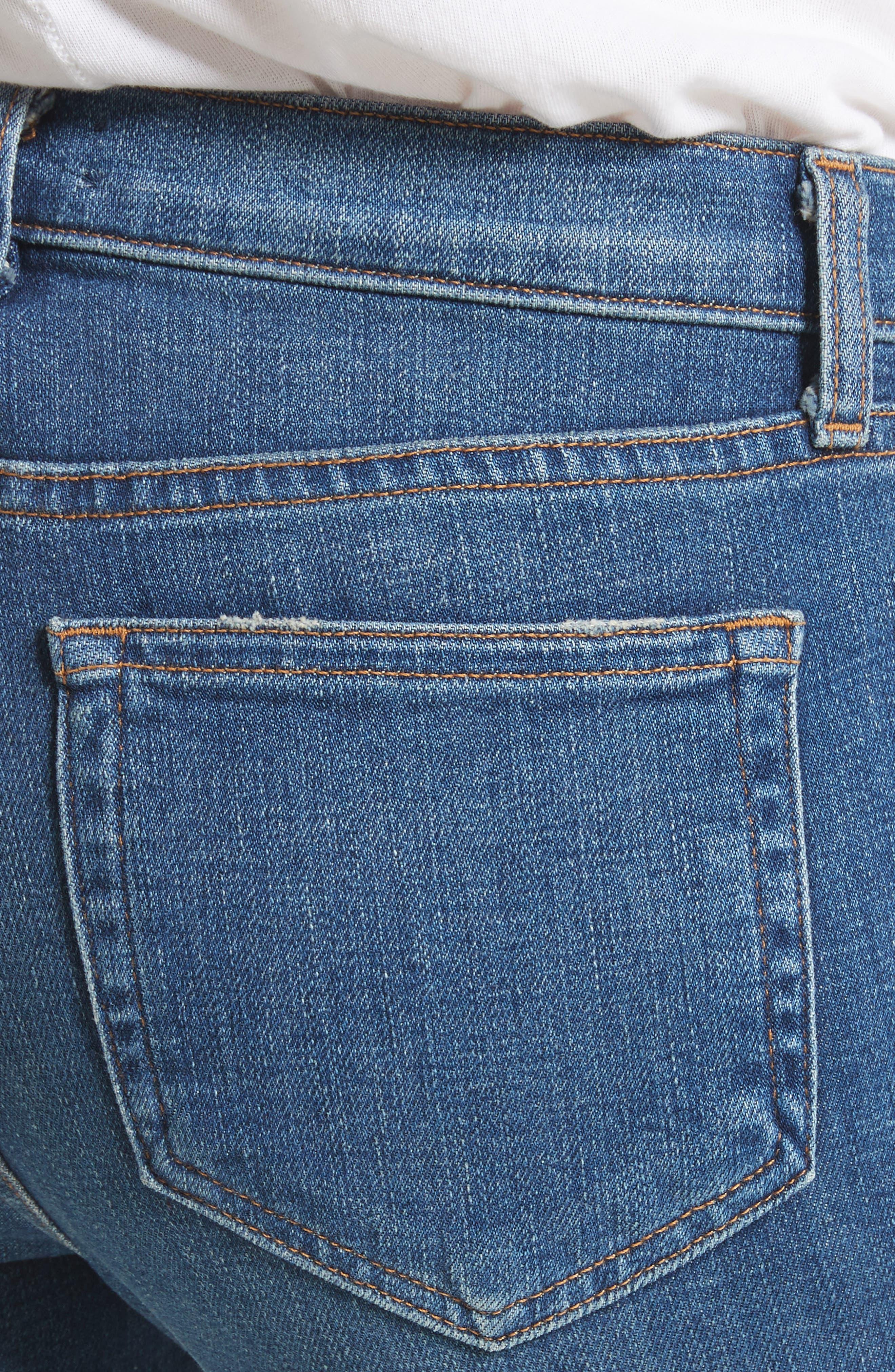Anjelique Studded Ankle Skinny Jeans,                             Alternate thumbnail 4, color,                             400