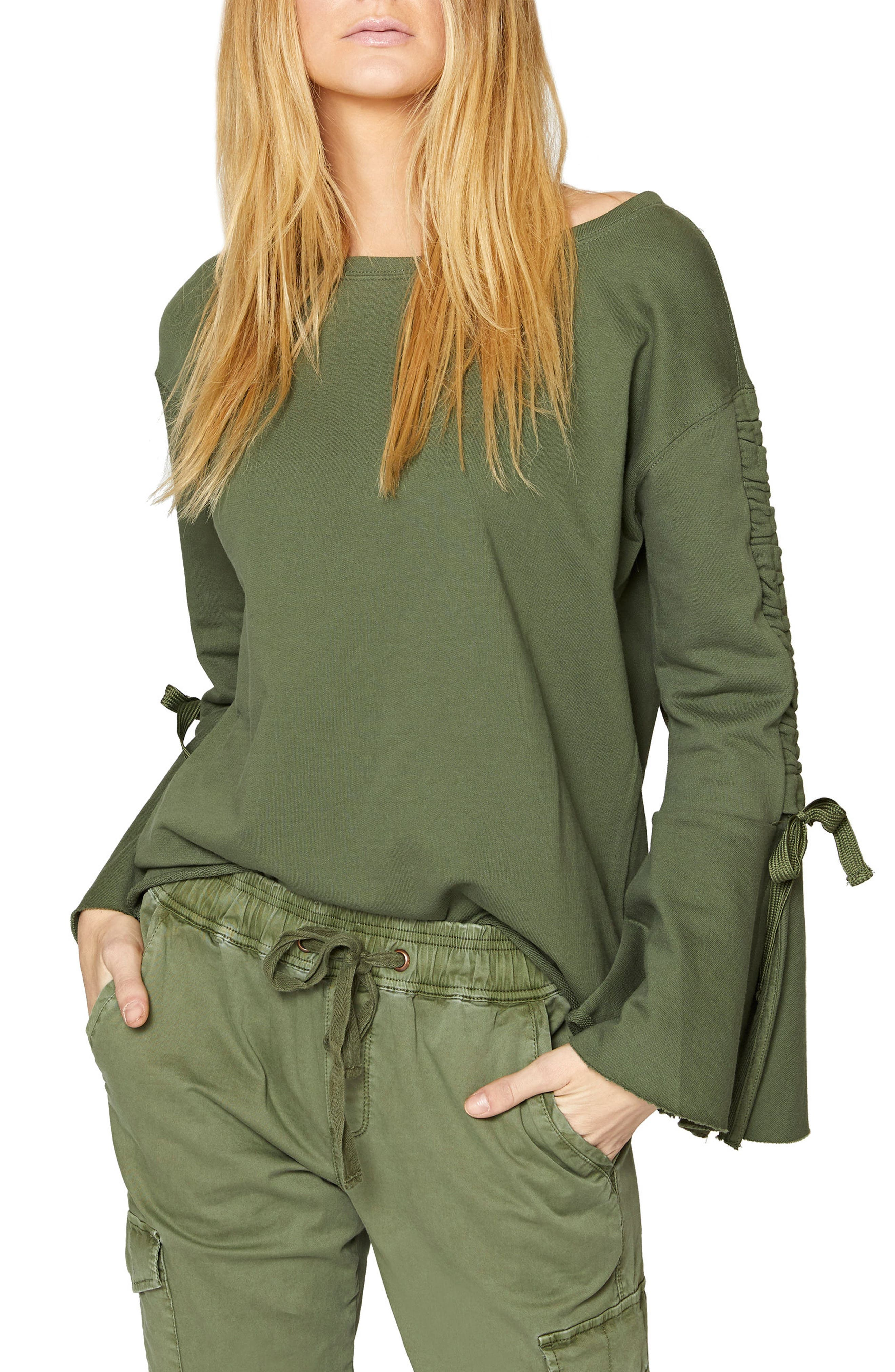 Upper West Bell Sleeve Sweatshirt,                             Main thumbnail 2, color,