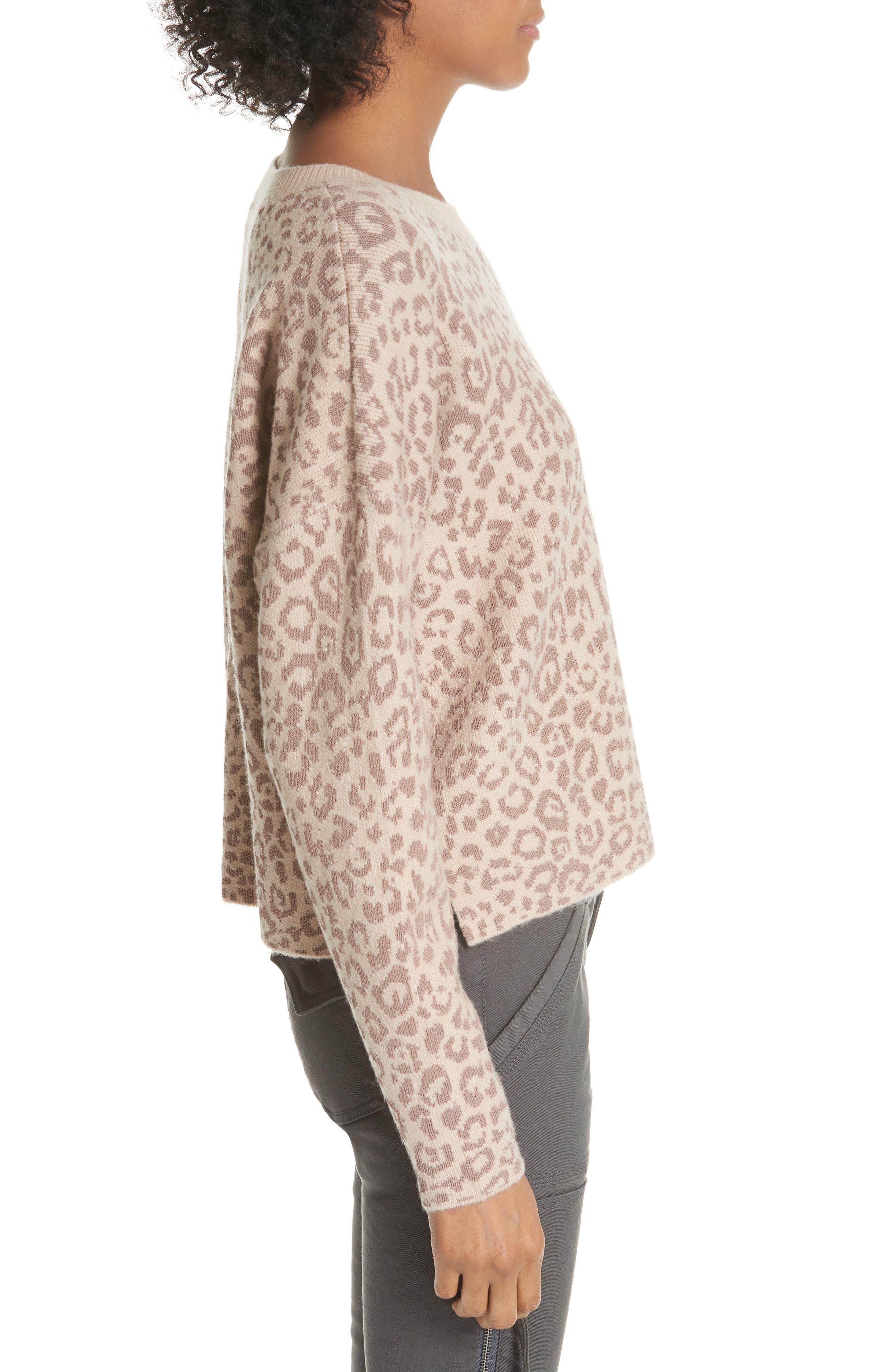 Leopard Print Sweater,                             Alternate thumbnail 3, color,                             250