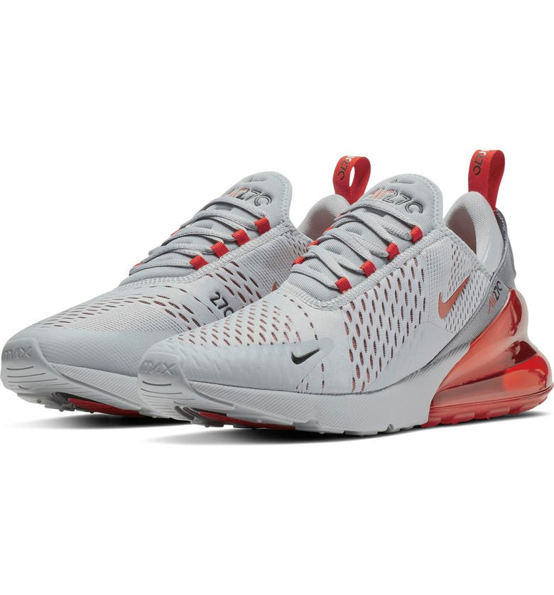 the latest b0aa1 a337b NIKE Air Max 270 Sneaker, Main, color, WOLF GREY RED EMBER