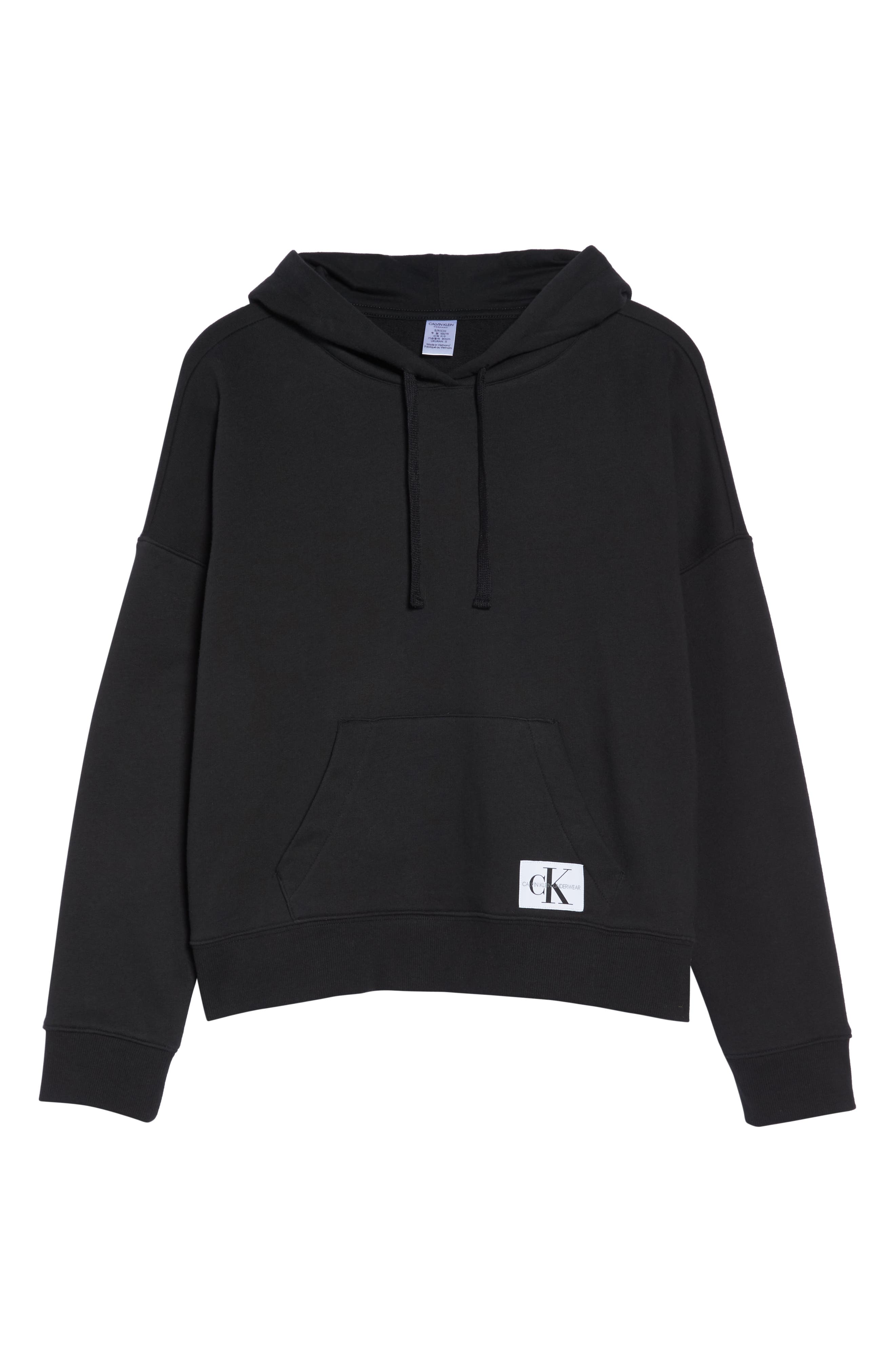 CALVIN KLEIN,                             Monogram Lounge Hoodie,                             Alternate thumbnail 6, color,                             001