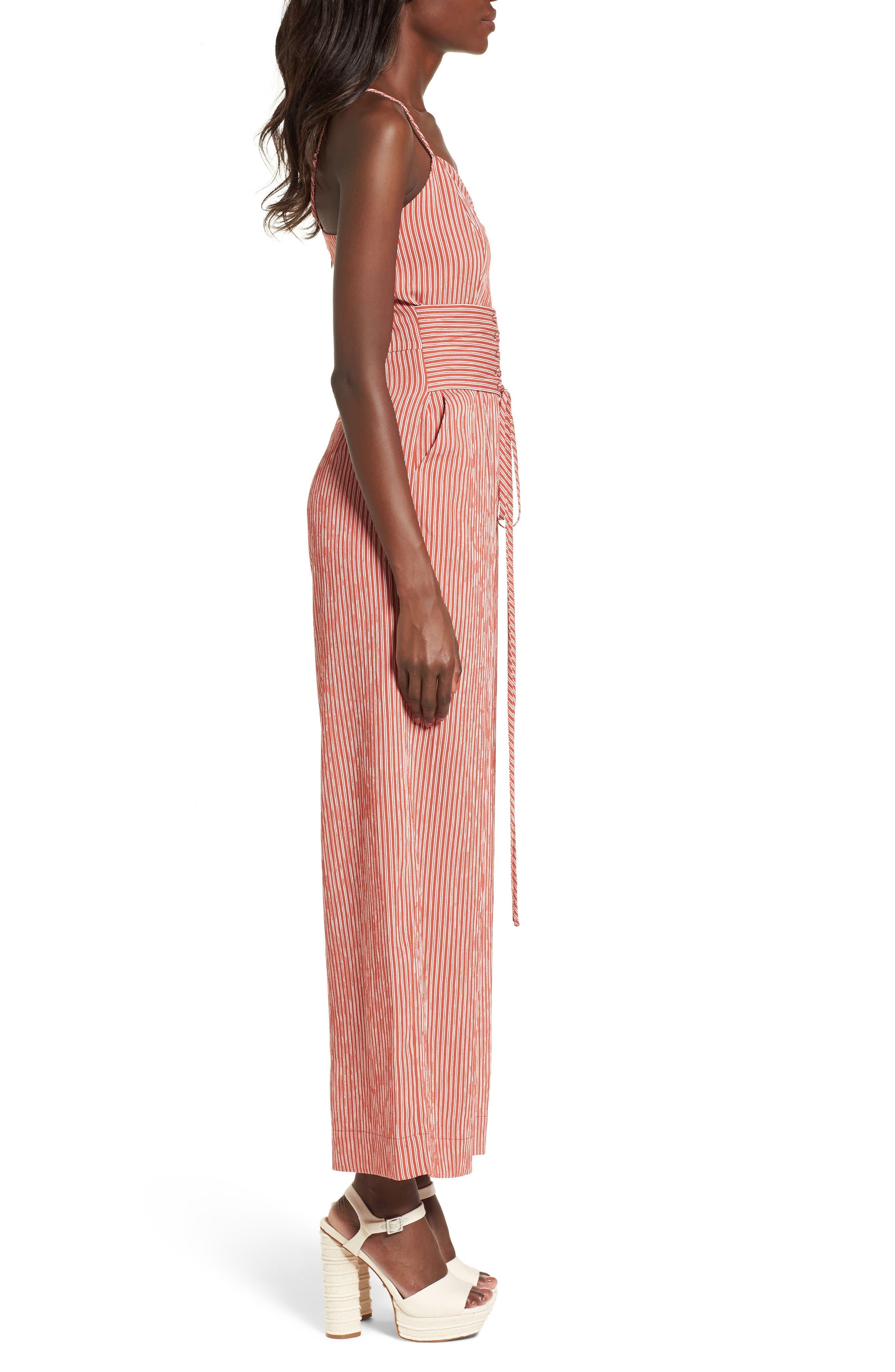 Chriselle x J.O.A. Corset Wide Leg Jumpsuit,                             Alternate thumbnail 3, color,                             650