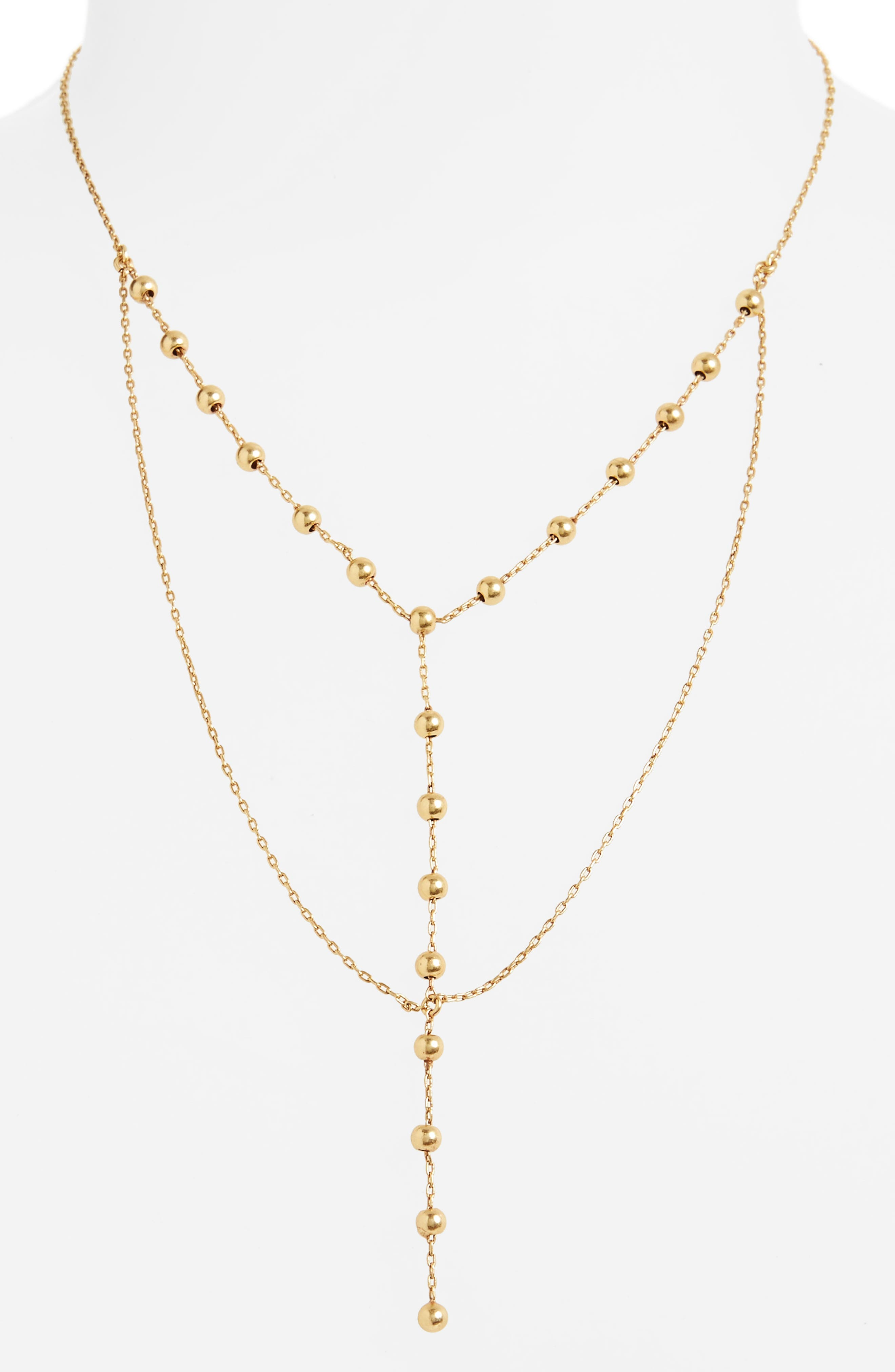 Sphere Layered Lariat Necklace,                             Alternate thumbnail 2, color,                             710