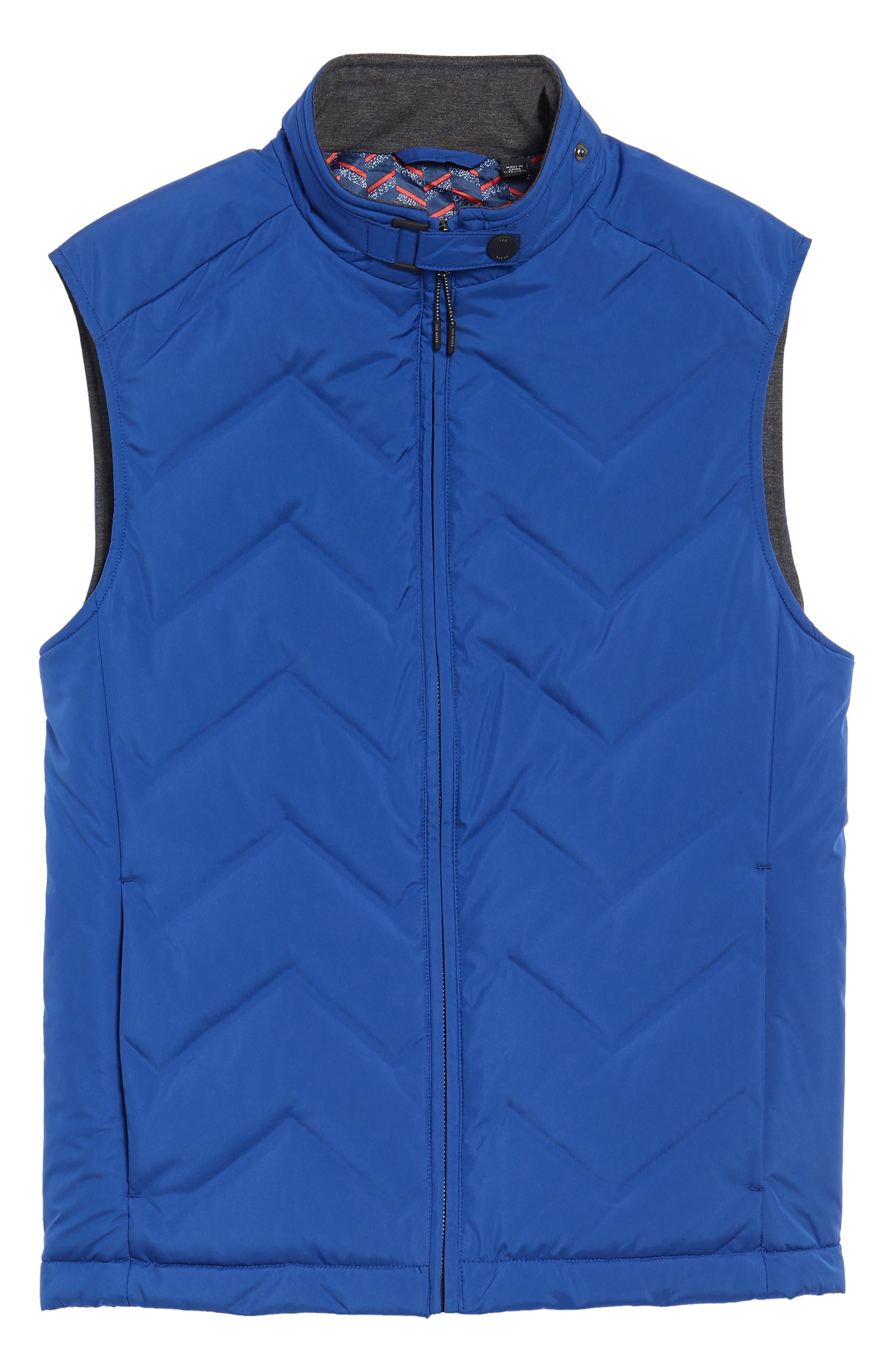 Hobart Down Vest,                             Alternate thumbnail 5, color,                             BRIGHT BLUE