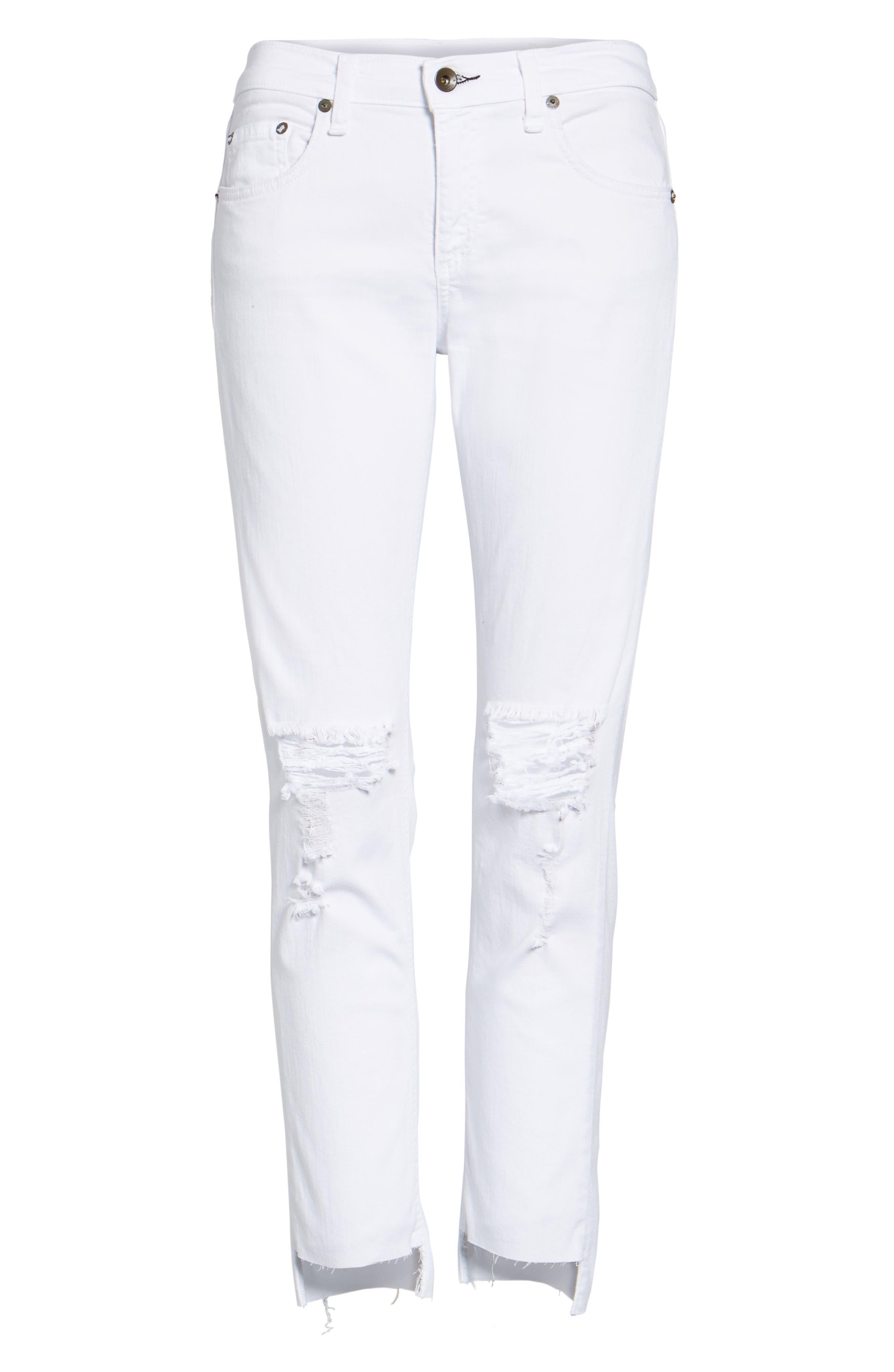 The Dre Capri Slim Boyfriend Jeans,                             Alternate thumbnail 6, color,                             100
