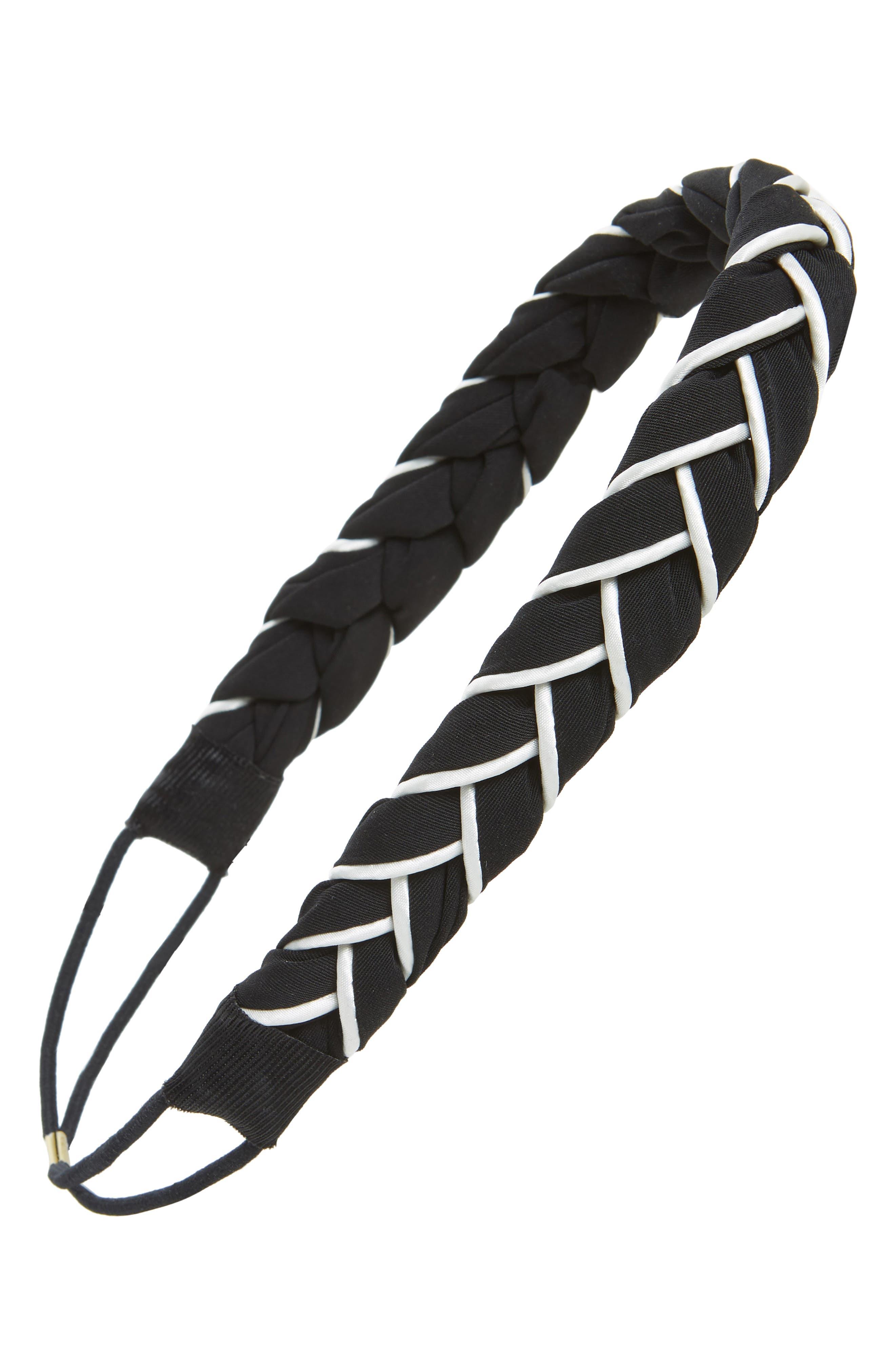 Twist Wrap Fabric Headband,                         Main,                         color, 001