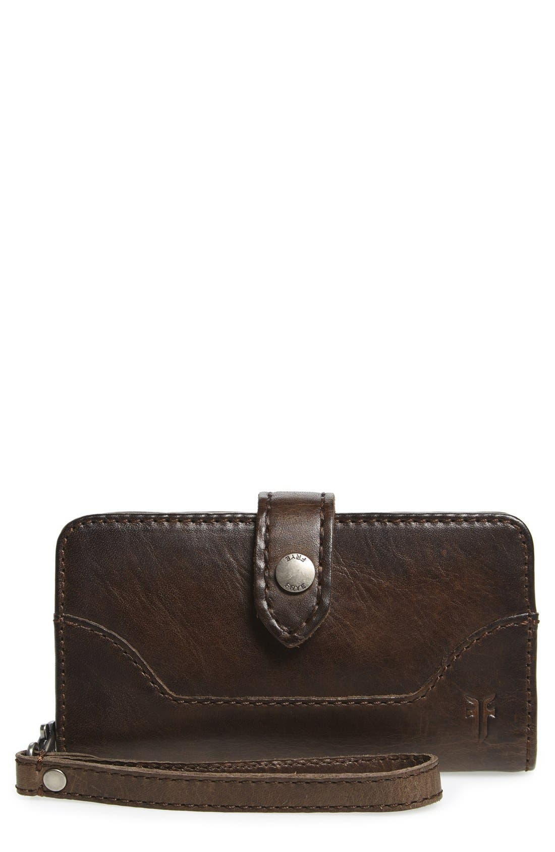'Melissa' Leather Phone Wallet,                         Main,                         color, 020