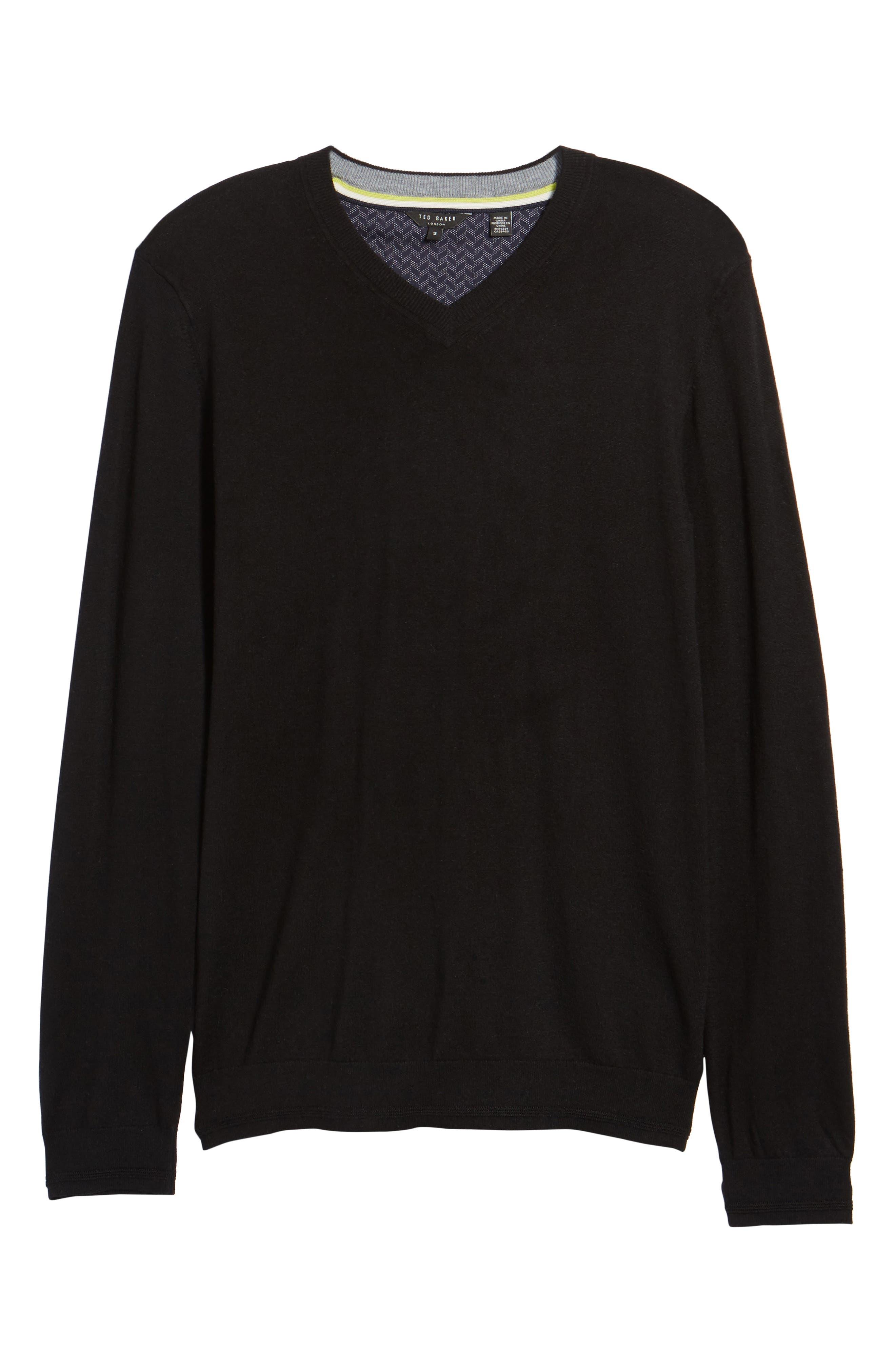 V-Neck Sweater,                             Alternate thumbnail 21, color,