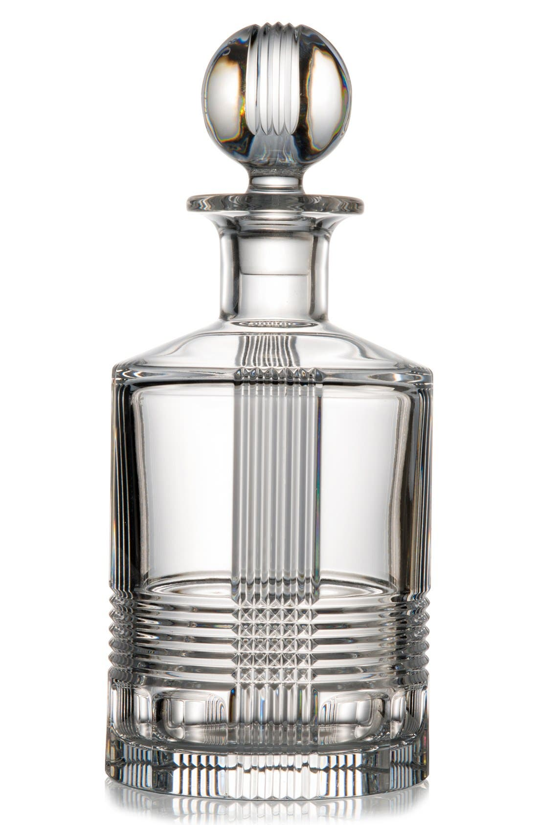 'Fan Club' Lead Crystal Decanter,                             Main thumbnail 1, color,                             100