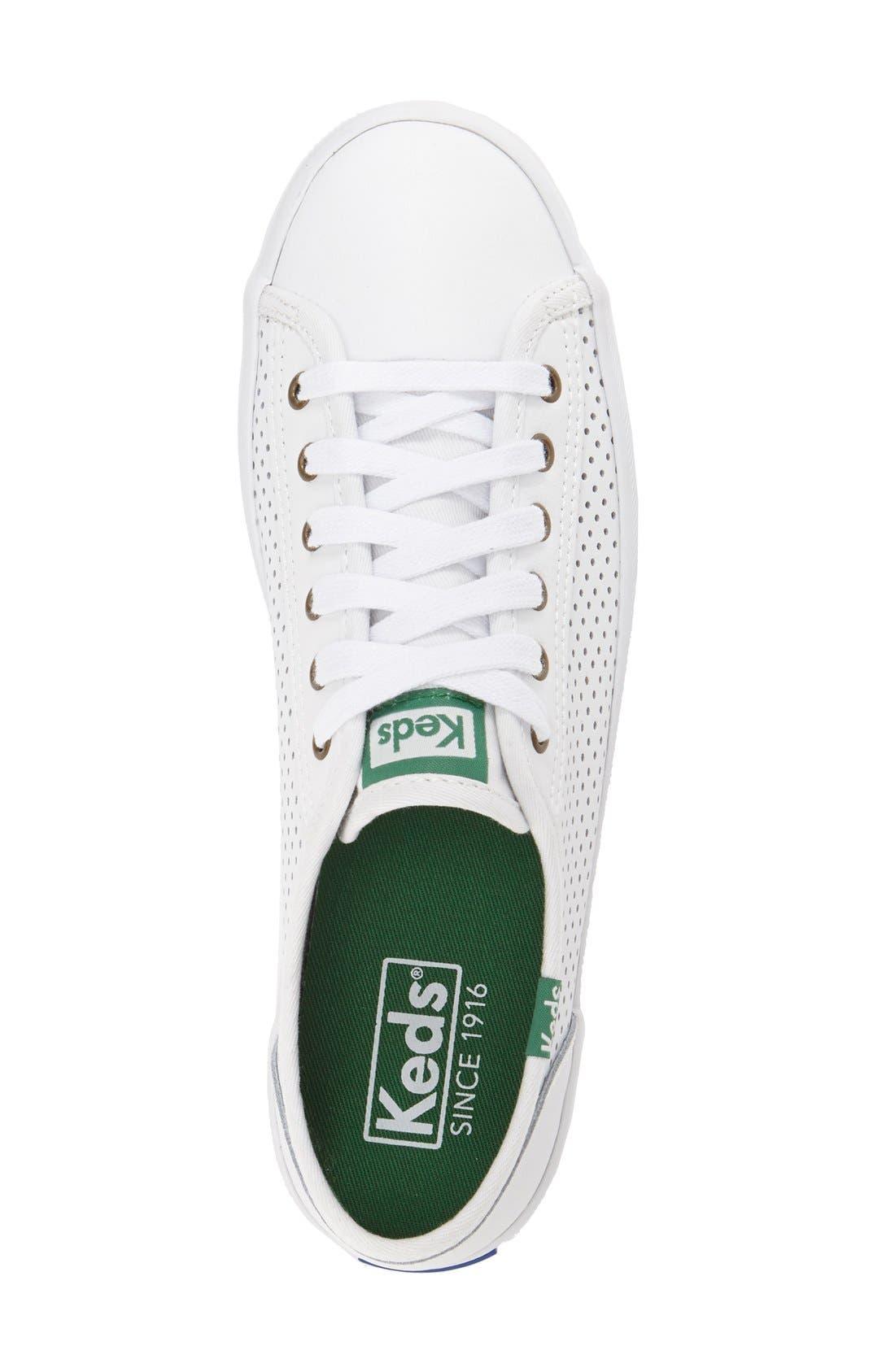 KEDS<SUP>®</SUP>,                             'Kickstart' Perforated Sneaker,                             Alternate thumbnail 3, color,                             100